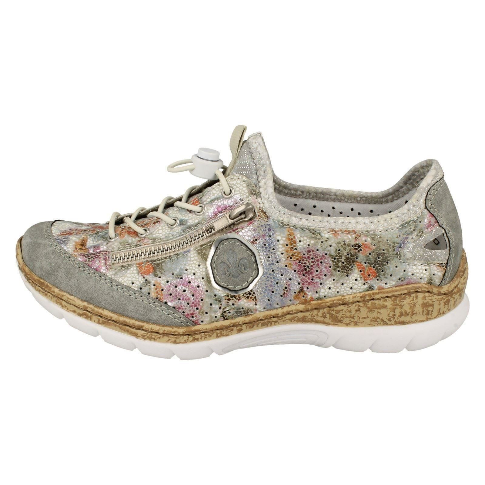 Details about Ladies Rieker Casual Slip On Trainers N42V1