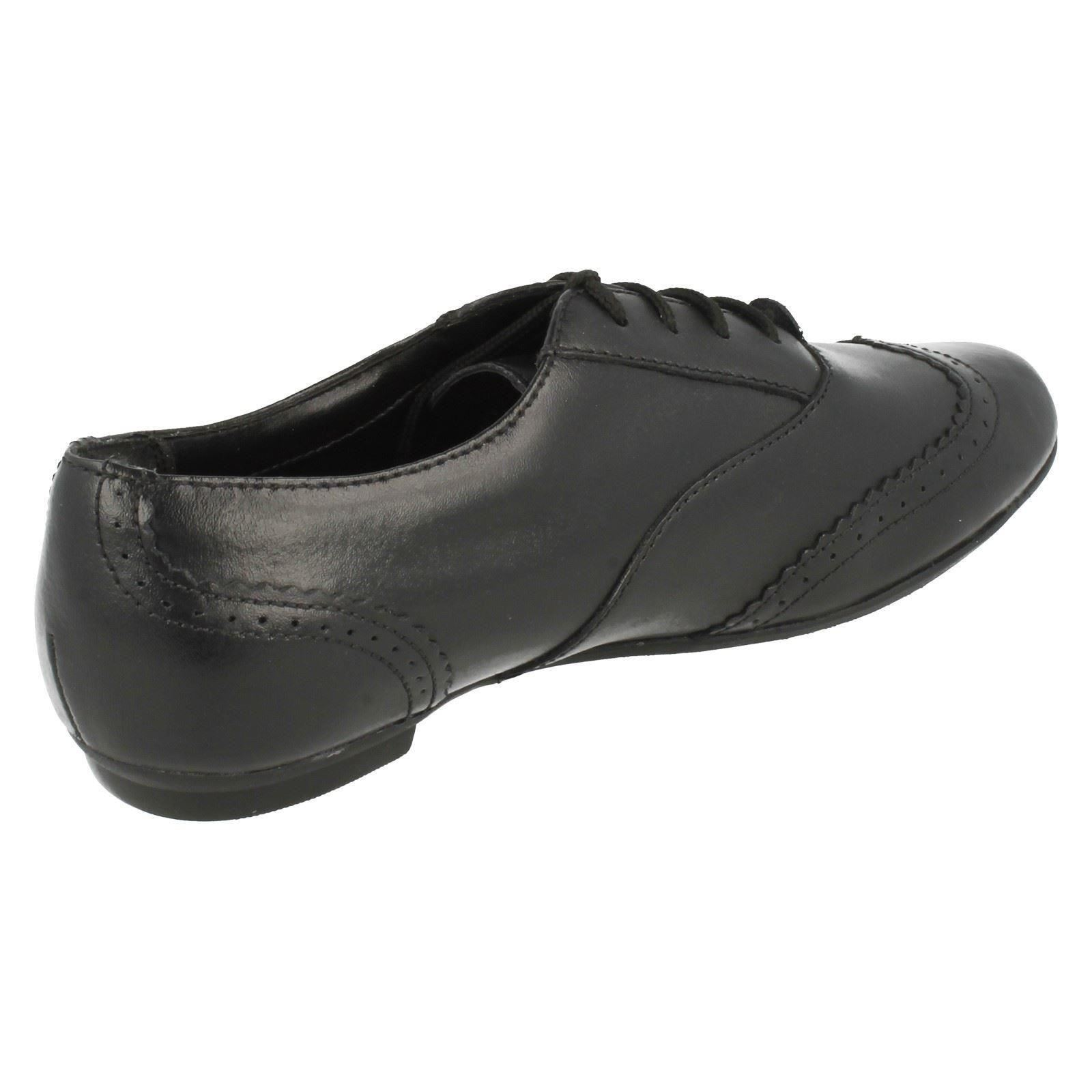 Senior Girls Tizz Honey Bootleg by Clarks Brogue School Shoes