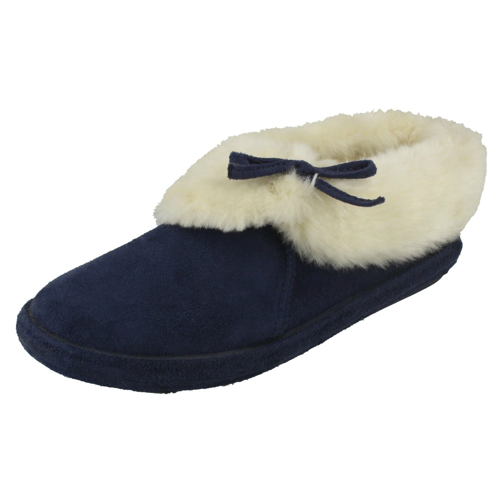 JYOTI NICOLETTE WOMENS LADIES FURRY ANKLE BOOTIE SLIPPERS MANY COLOURS  NEW