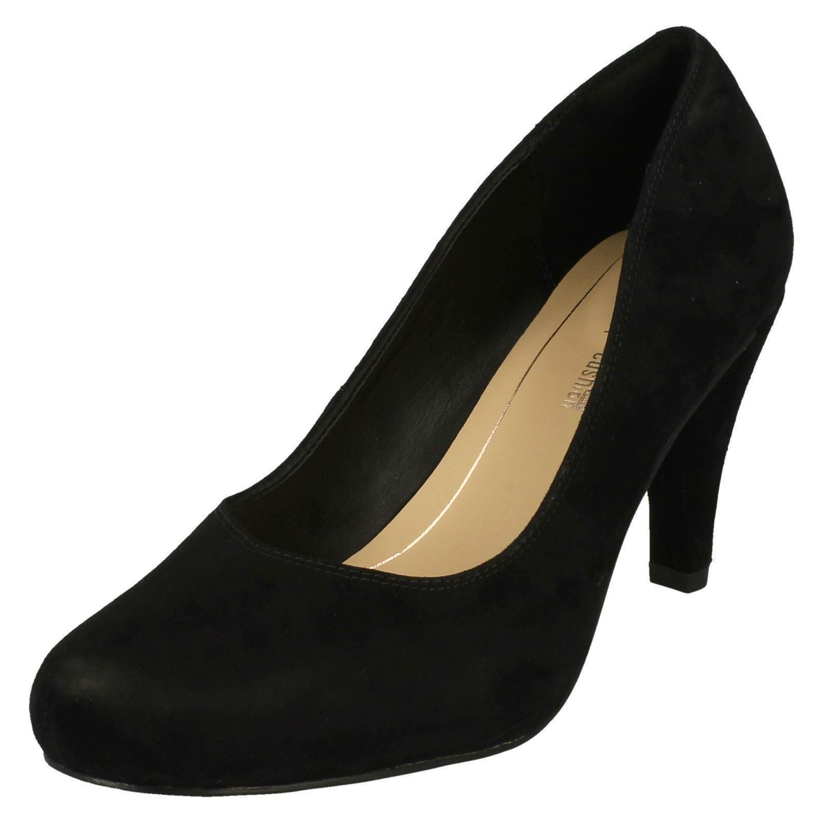 Shoes Court 'dalia Black Rose' Clarks Heeled Womens xSwOqCFA