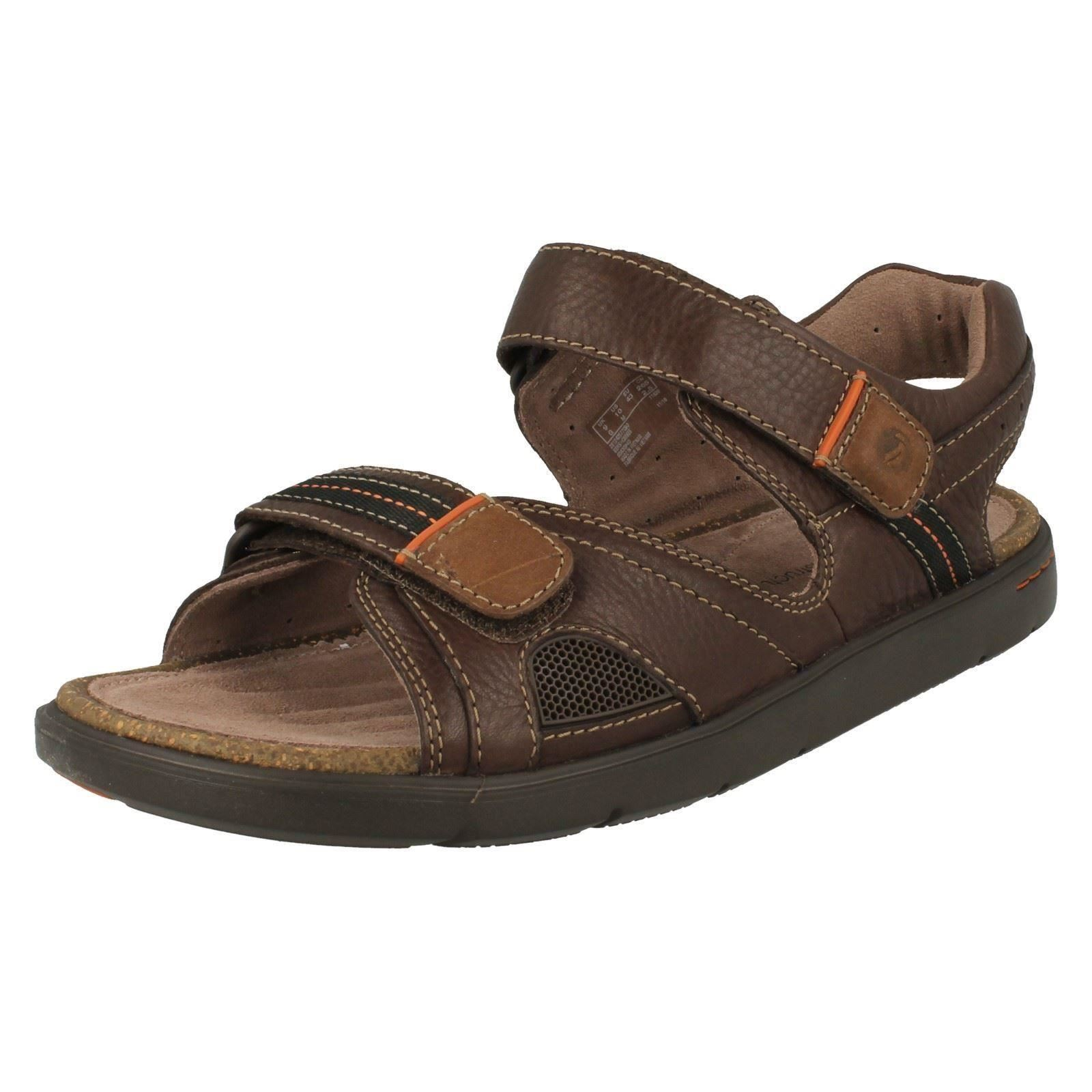 Mens Unstructured by Clarks Open Toe Straped Sandals *Unwilmore Sun*