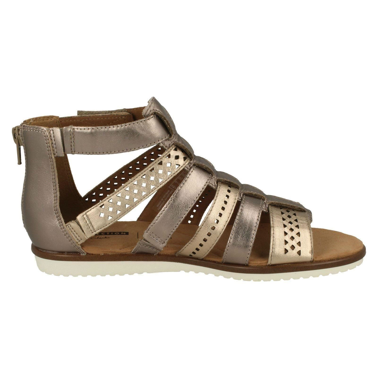 be9f8efb5 Ladies-Clarks-Kele-Lotus-Gladiator-Sandals thumbnail 7