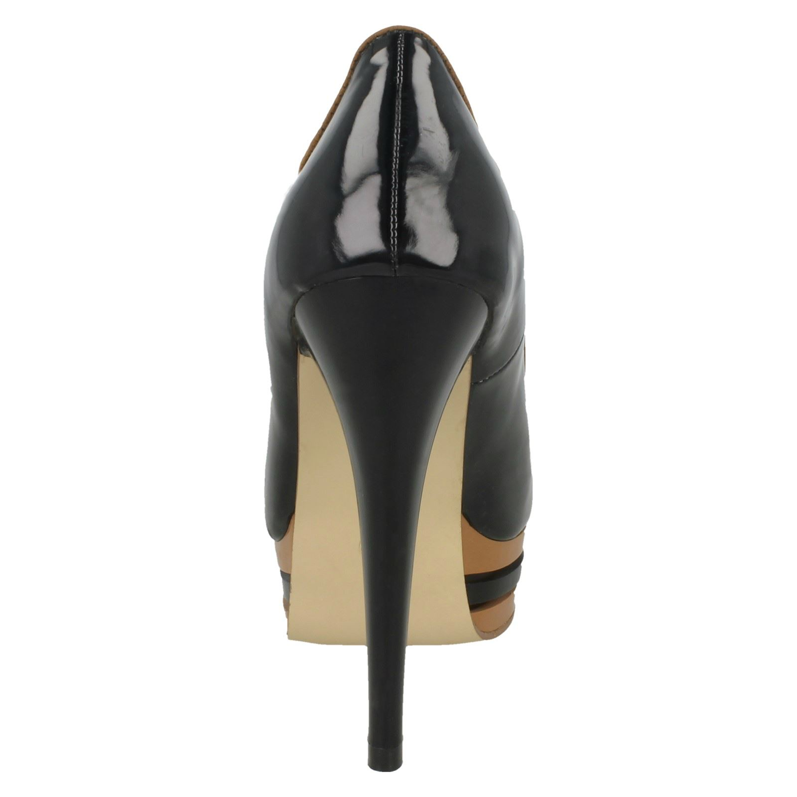 Damas Spot on-Peep-Toe Plataforma Stilettos