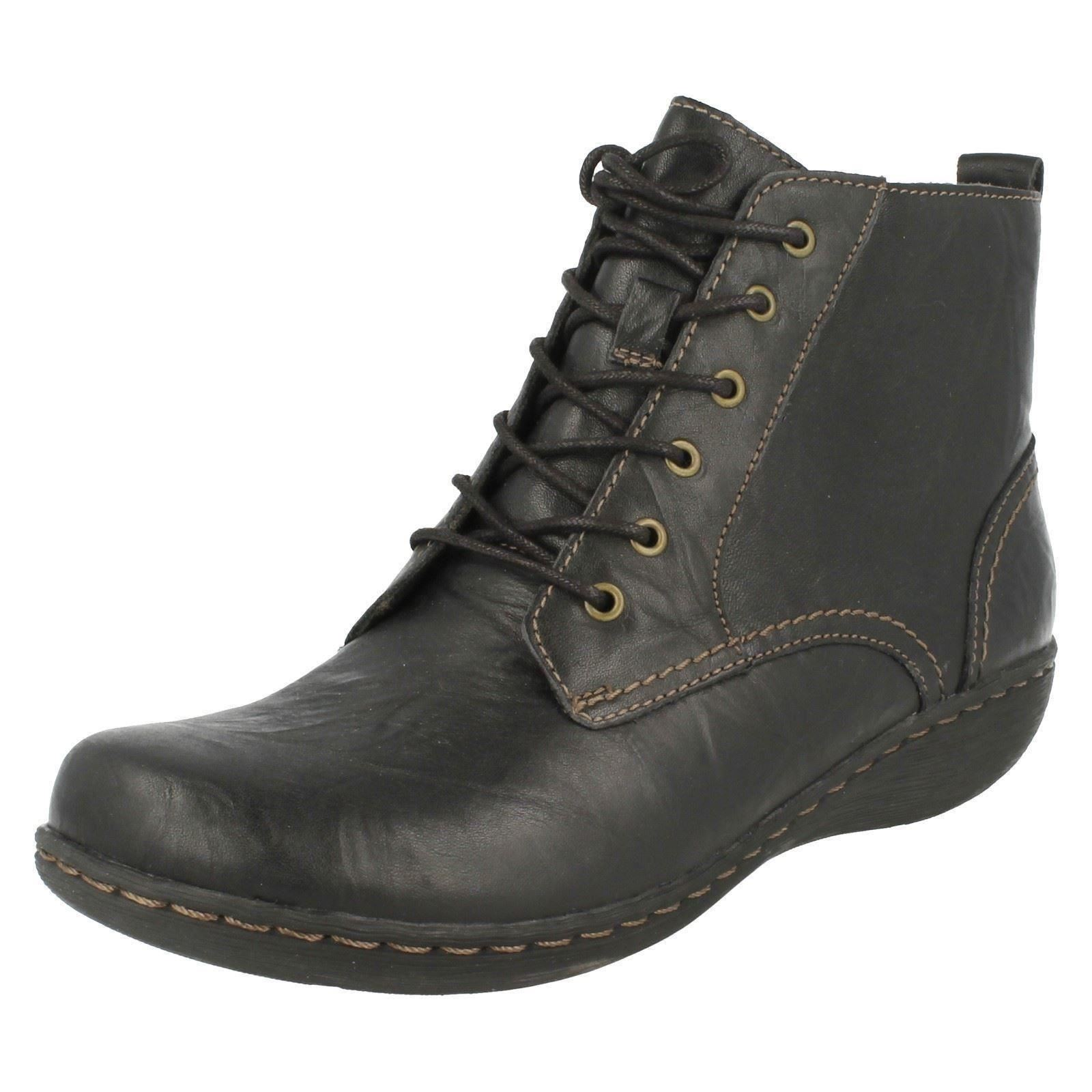 Ladies Up Clarks Black Lace Fianna Ankle Boots Holly PPaqACwx