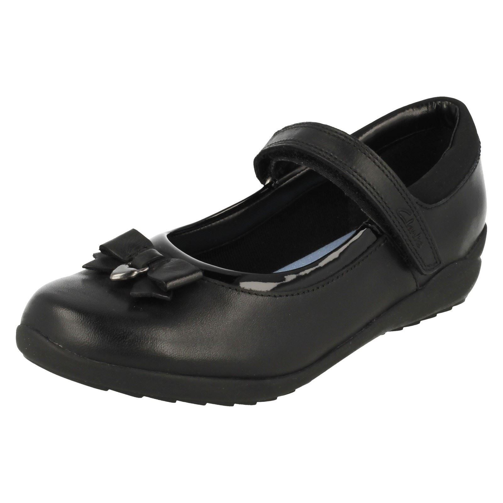 448f38a115e3 Girls Clarks Smart School Shoes Ting Fever INF UK 12 Kids Black Leather H.  About this product. Picture 1 of 10  Picture 2 of 10 ...