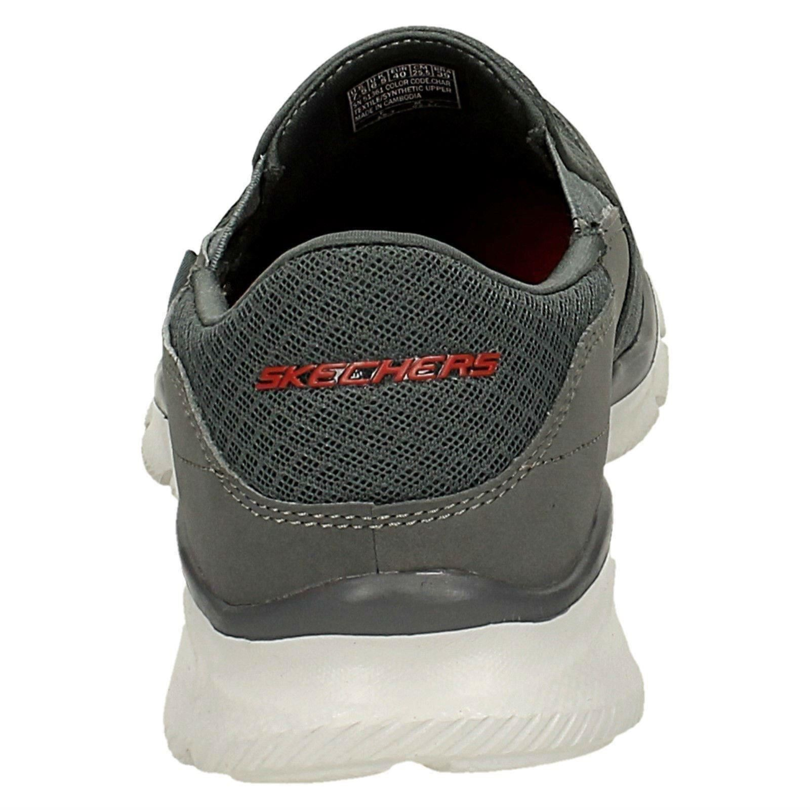 Homme On Skechers Memory Foam Slip On Homme Baskets * persistante * cb6f32