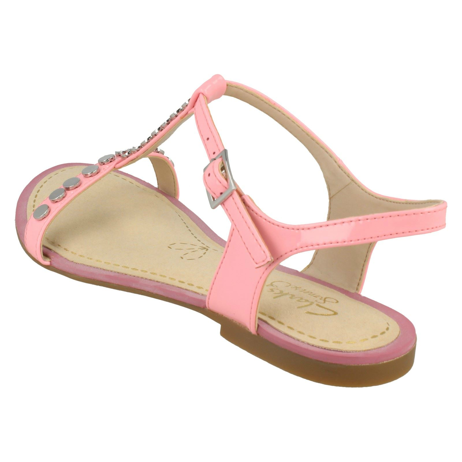 55aef7897 Ladies Clarks Flat Studded Buckled Summer Sandals Sail Festival 5 UK Pink  D. About this product. Picture 1 of 10  Picture 2 of 10  Picture 3 of 10   Picture ...
