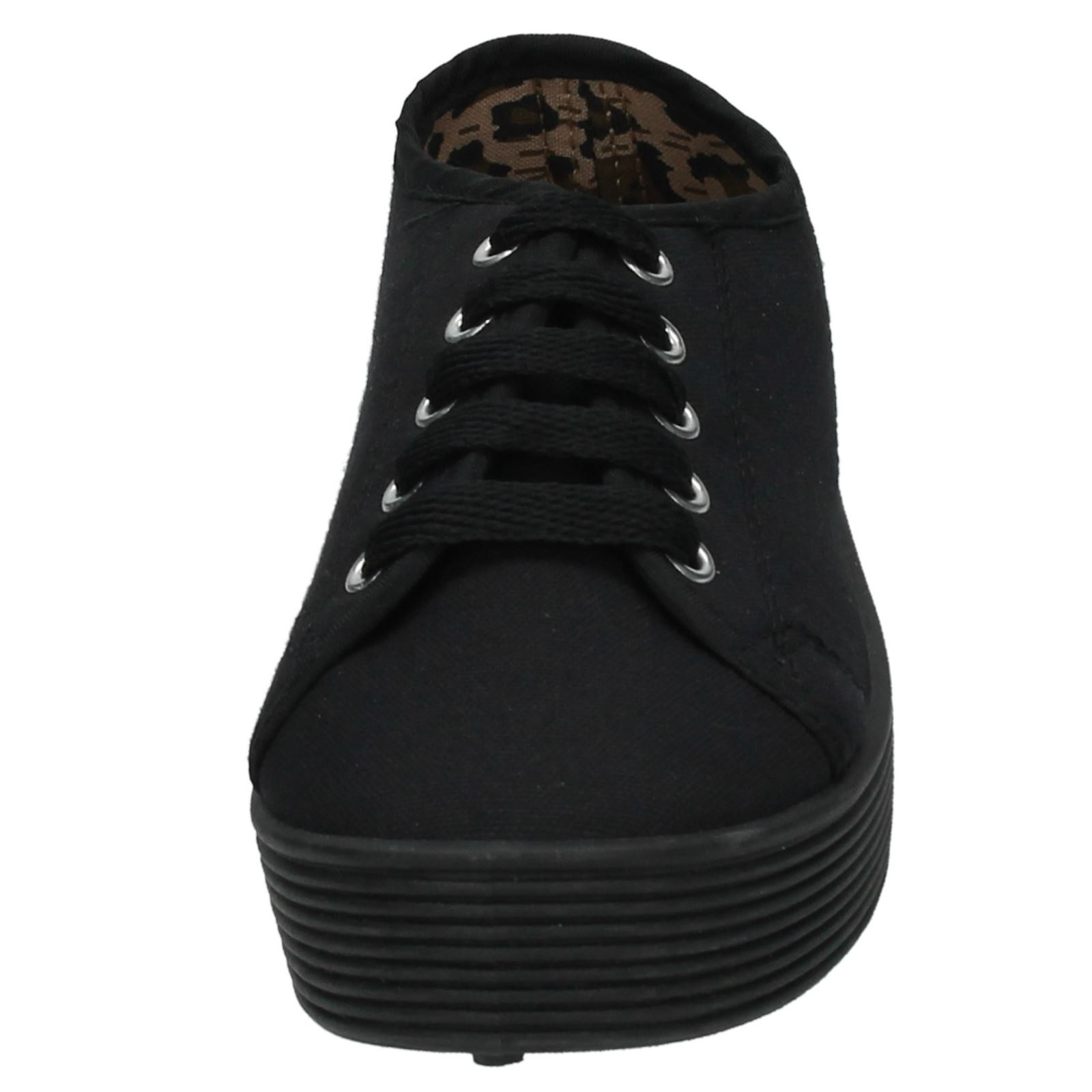 Girls Spot On Chunky Sole Casual Pumps - H3019
