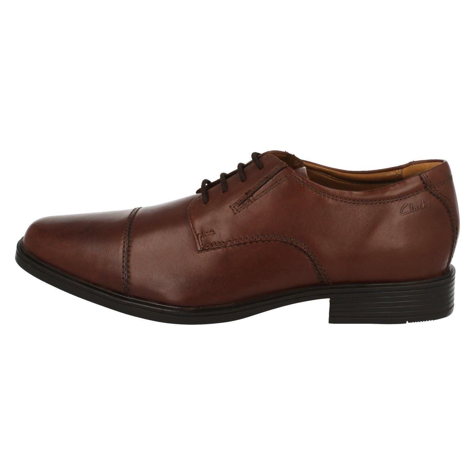 Mens-Clarks-Formal-Lace-Up-Shoes-Tilden-Cap thumbnail 16