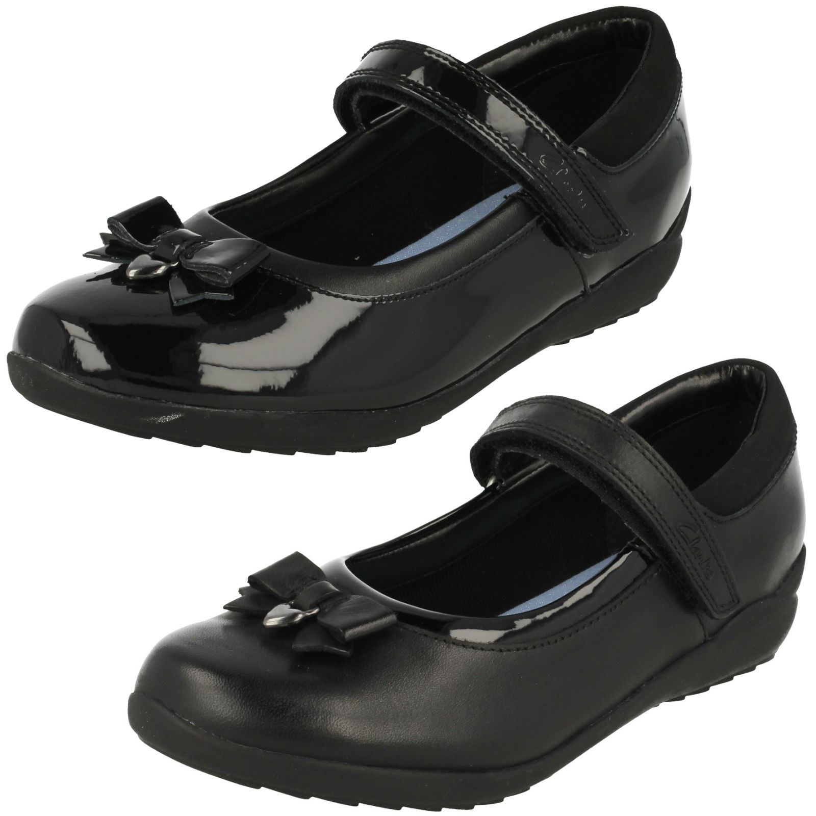 c4e52c383 Girls Clarks Ting Fever School Shoes