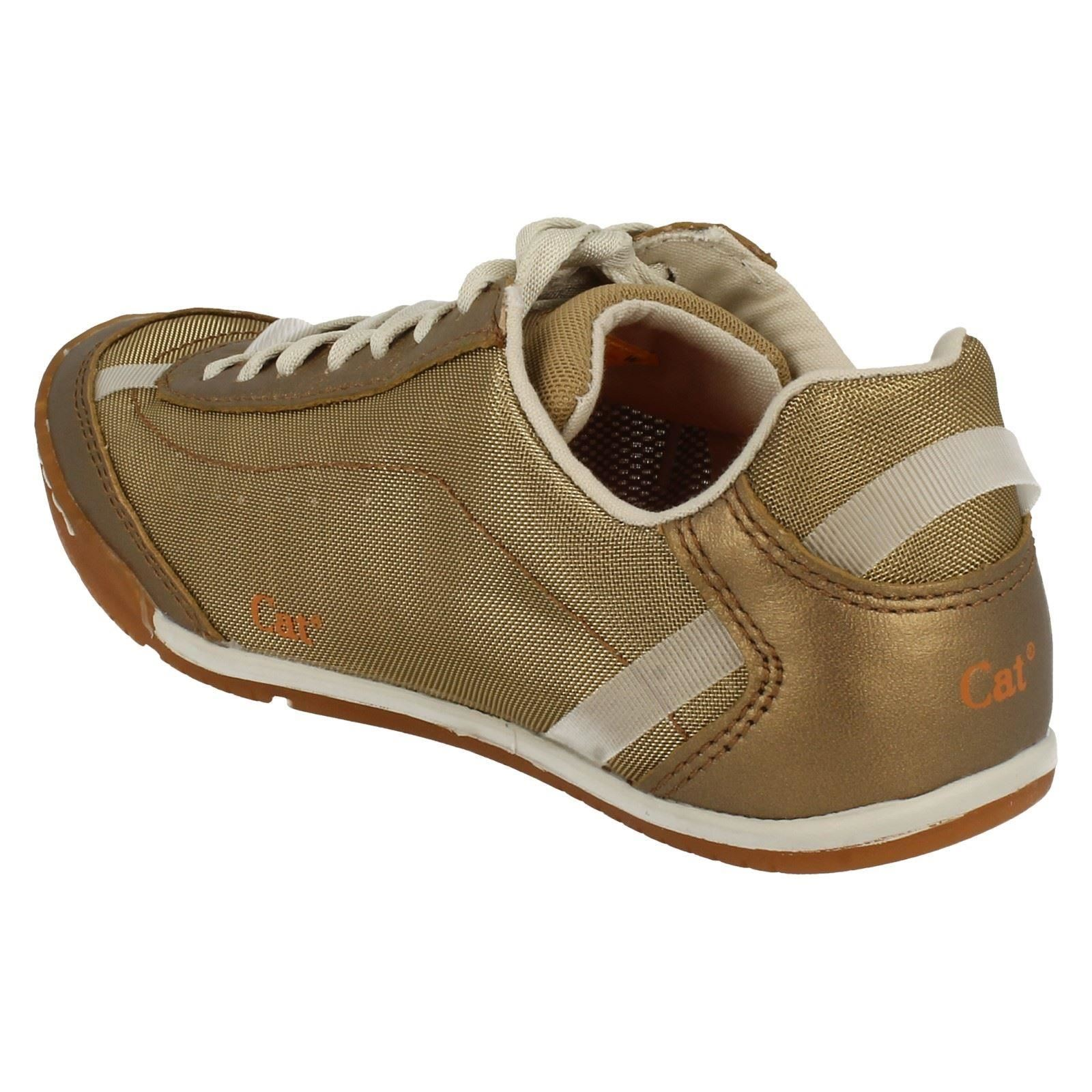 Casual Caterpilar Clarify Trainers Gold Up Ladies Lace gold orange 5Swx5q