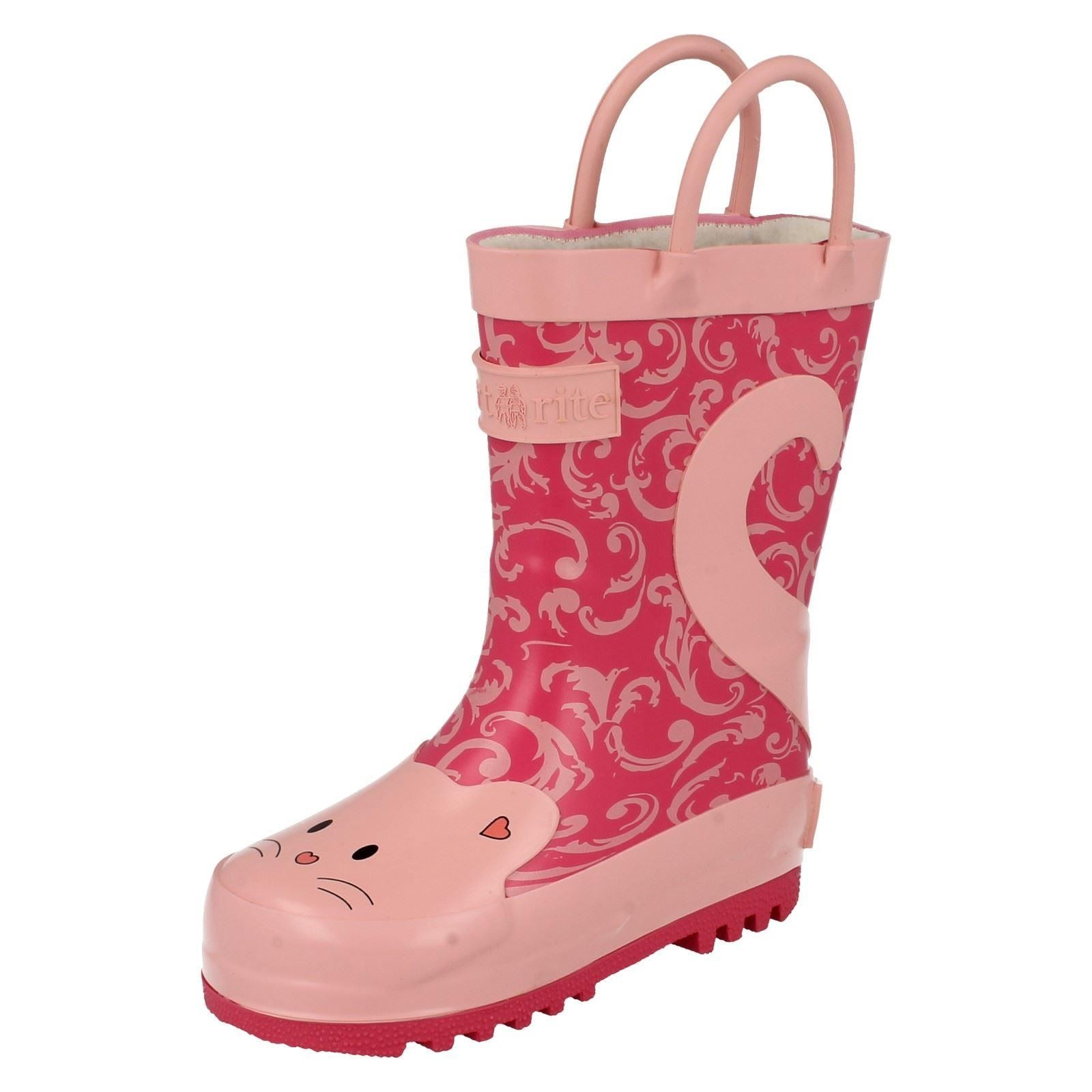 Chicas Startrite warmlined Wellingtons Gato Con Botas