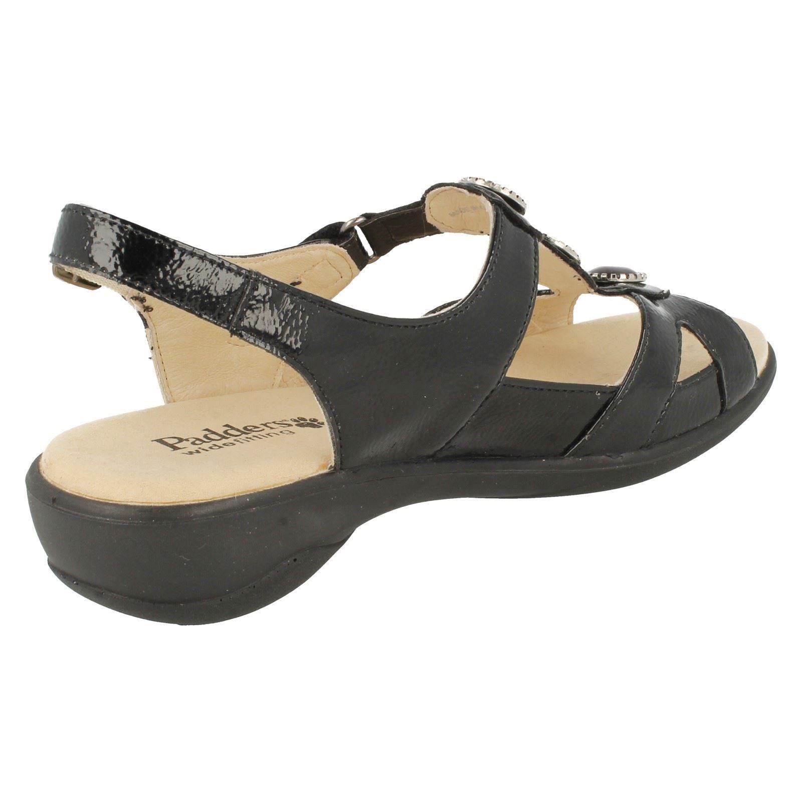 Damas Padders amplia correa trasera abierta de montaje Sandalias 'Precioso's