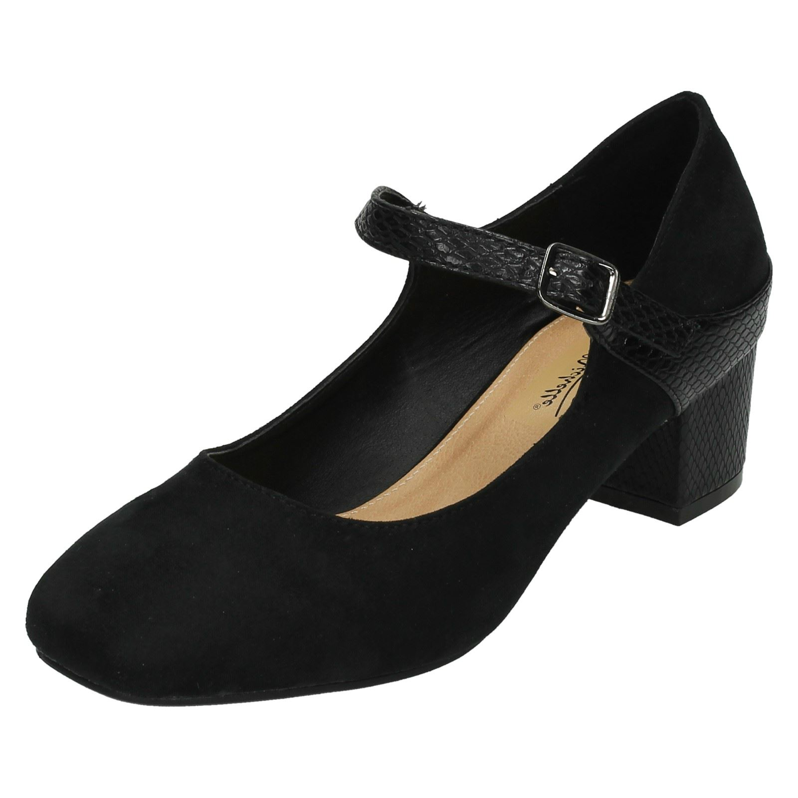 Ladies-Anne-Michelle-Wide-Fitting-Mid-Chunky-Heel-Mary-Jane-Shoes