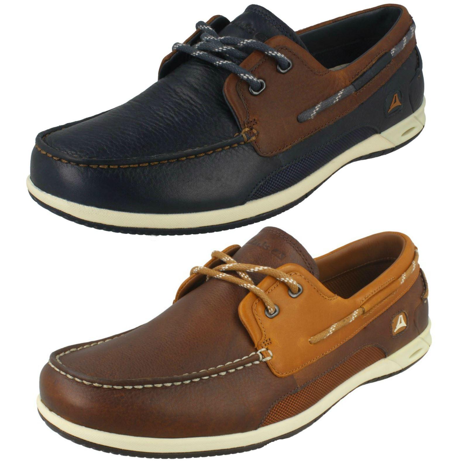 Detalles de Hombre Clarks Zapatos Náuticos Orson Puerto