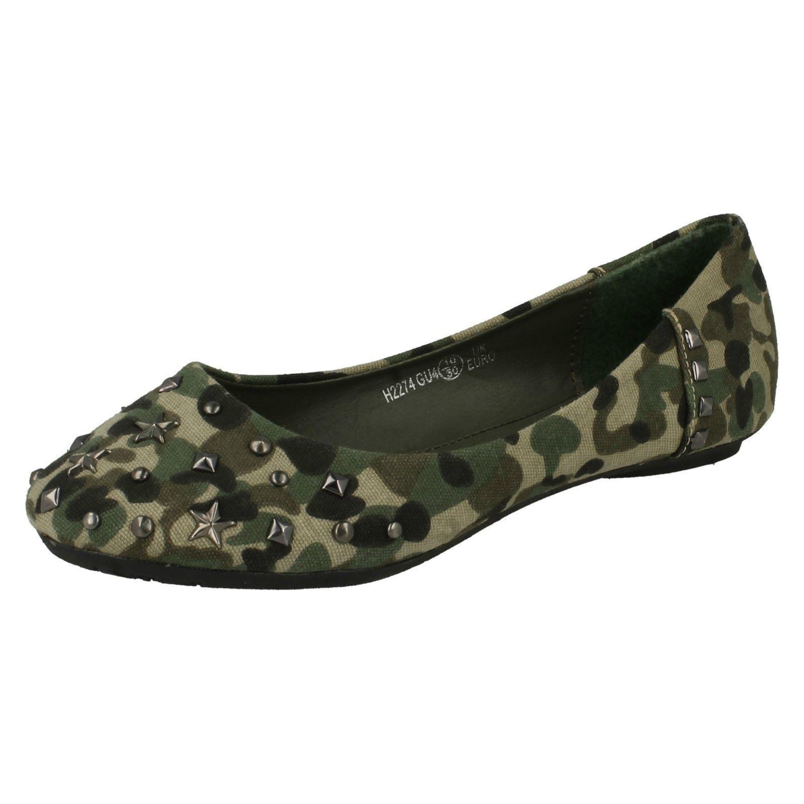 Chicas Bailarina Zapatos informales de punto en H2274