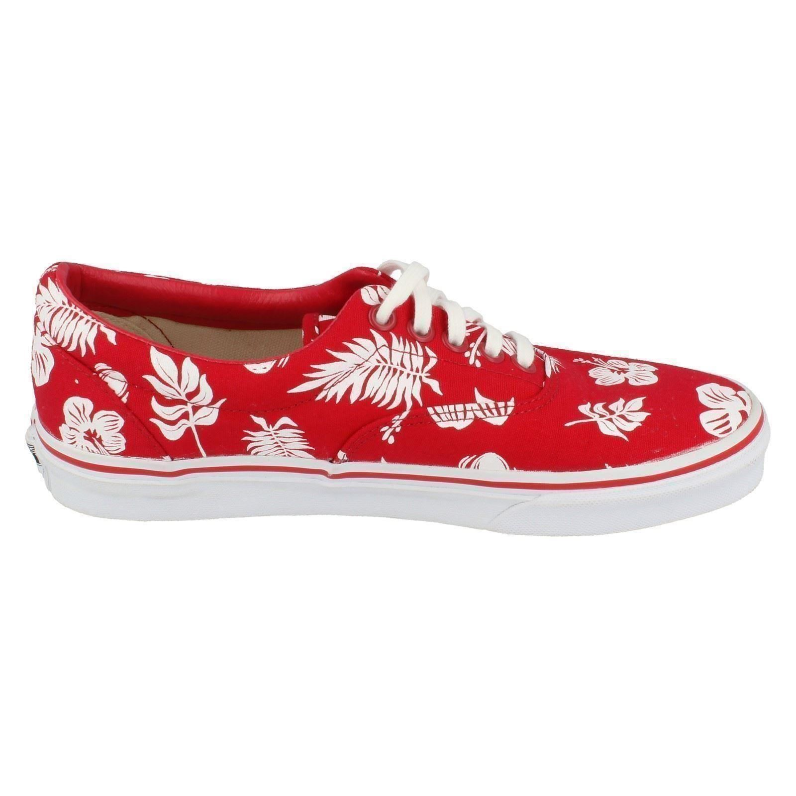 b46470437d VANS Mens Casual Tropicoco White True Red Canvas Shoes W3cen9 UK 6 ...