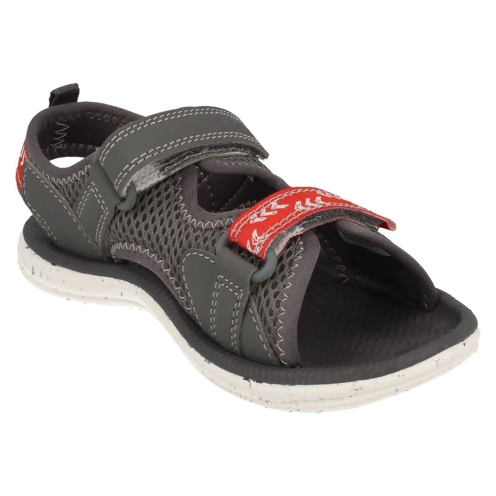 Infant / Junior Boys Clarks Riptape Strap Beach Pool Play Sandals - Piranha Boy