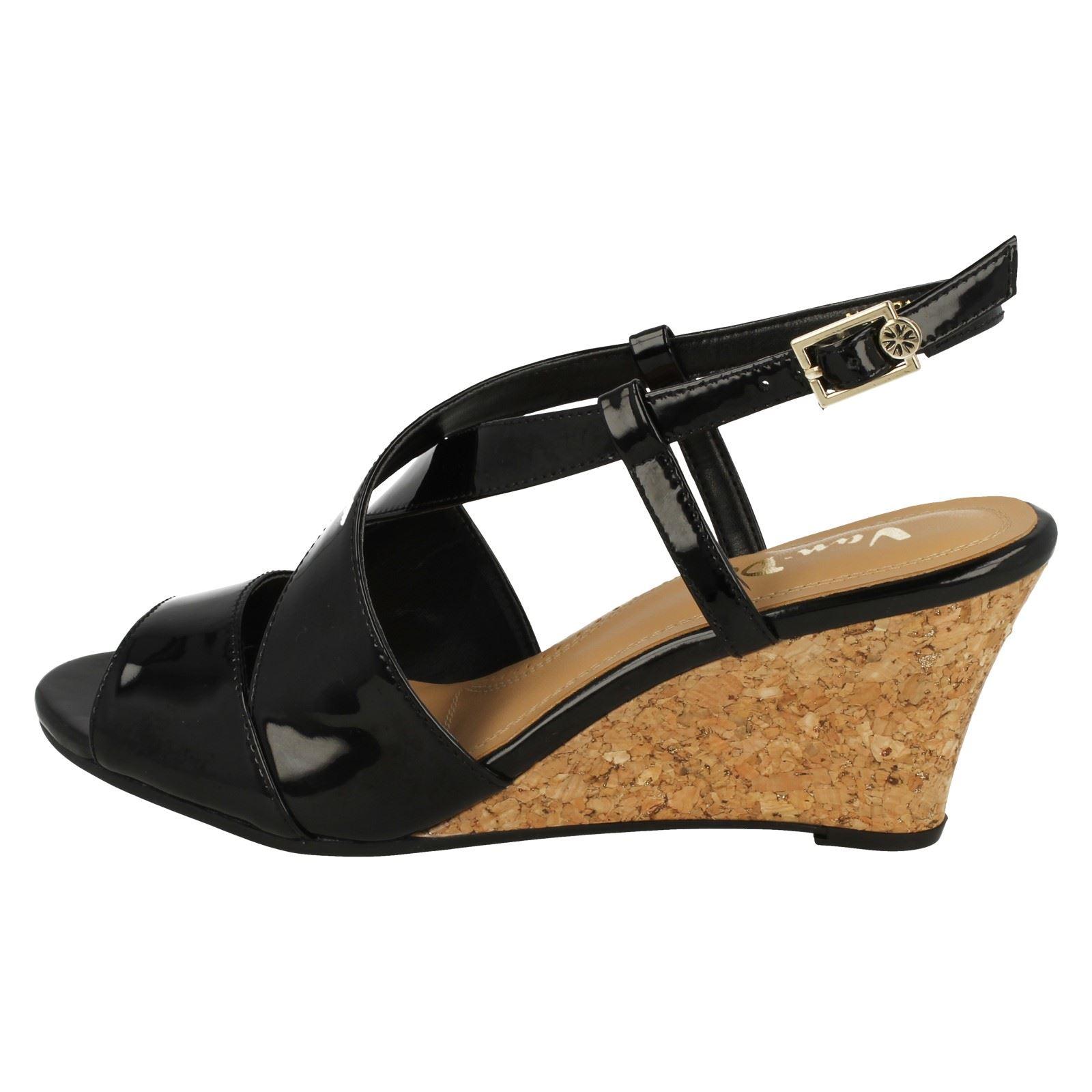 Ladies-Van-Dal-Cross-Strap-Wedged-Sandal-Allora thumbnail 12