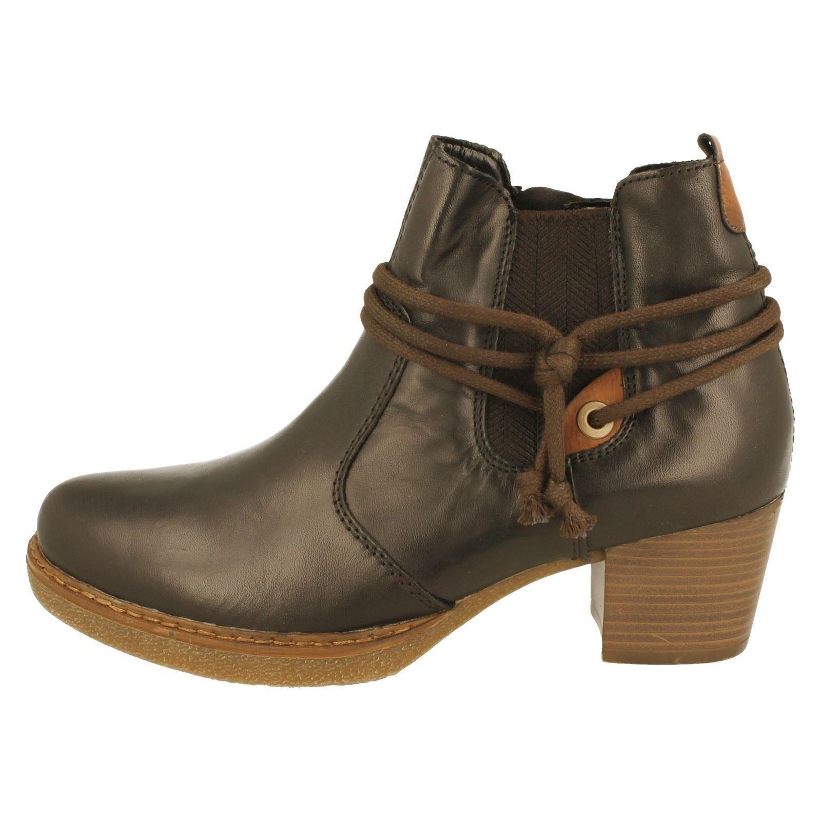 Remonte d8173 Ladies black Ankle Boots Black Leather Combination ZxIIqd