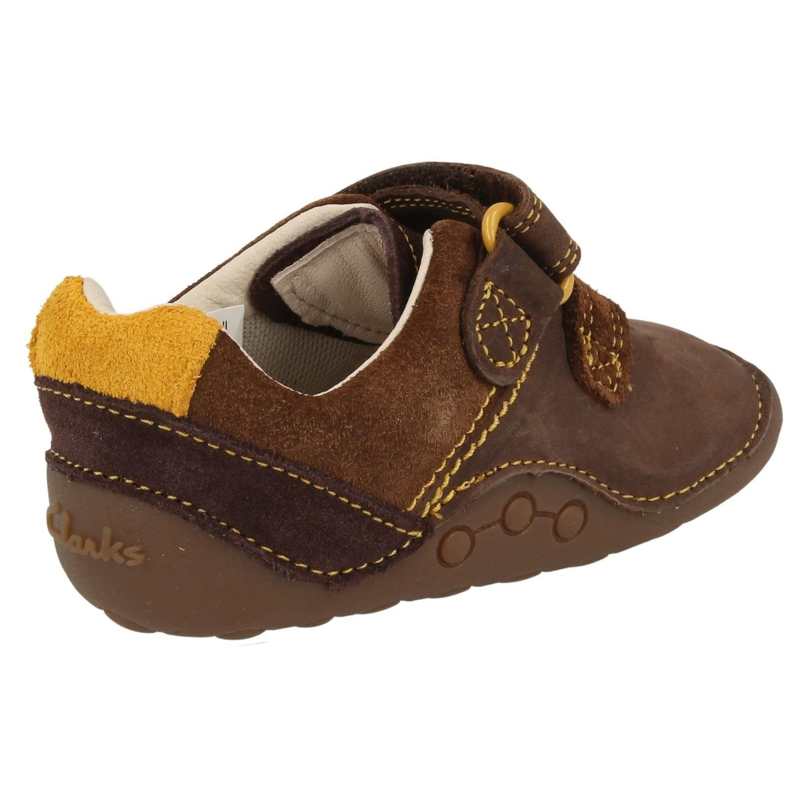 Boys Clarks Casual Hook & Loop First Shoes Tiny Seb