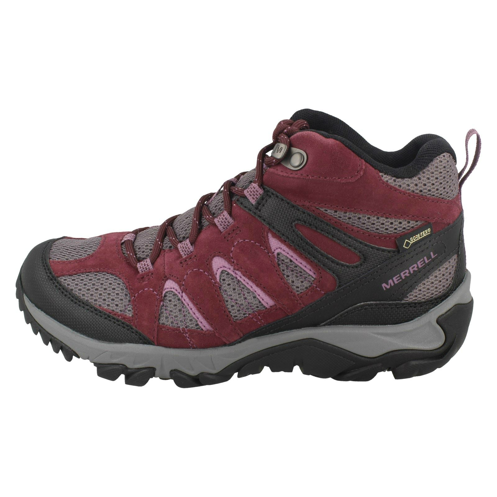 Details about  /Ladies Merrell Ankle Boots Outmost Mid Vent GTX J41070