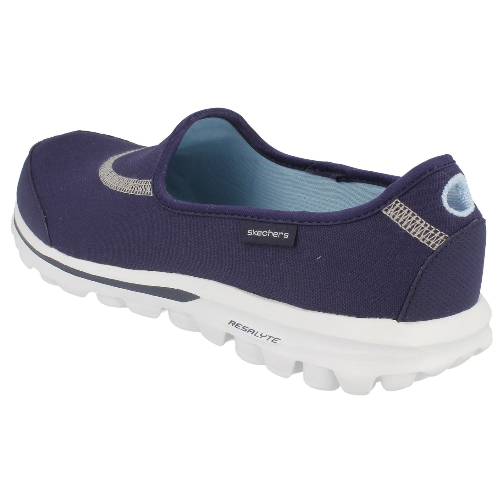 ladies skechers walking shoes 39 go walk 39 ebay. Black Bedroom Furniture Sets. Home Design Ideas