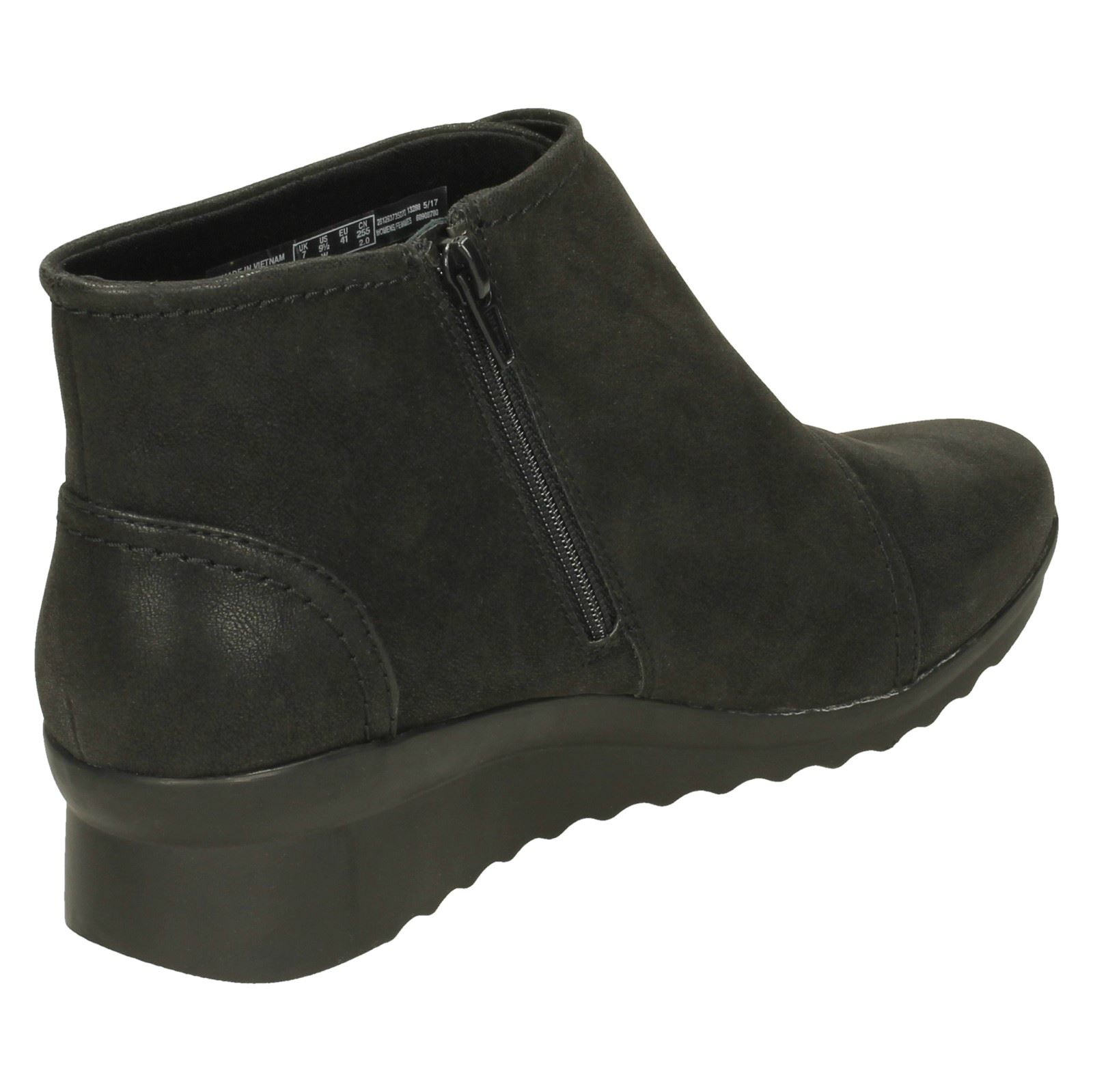 Ladies-Clarks-Cloudsteppers-Wedge-Heel-Ankle-Boots-Caddell-Rush