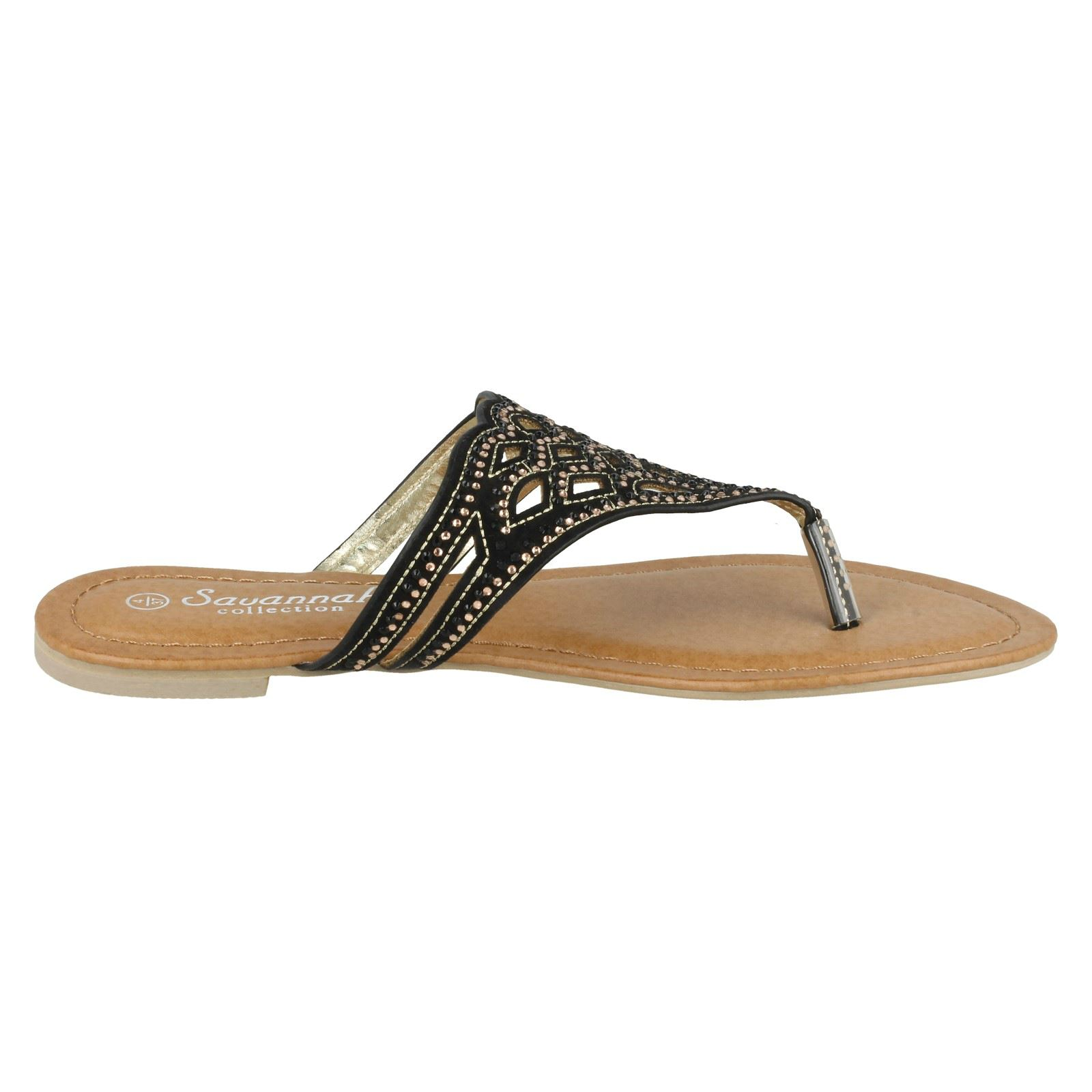 ad1b151467e6 Ladies-Savannah-Toe-Post-Sandals thumbnail 6
