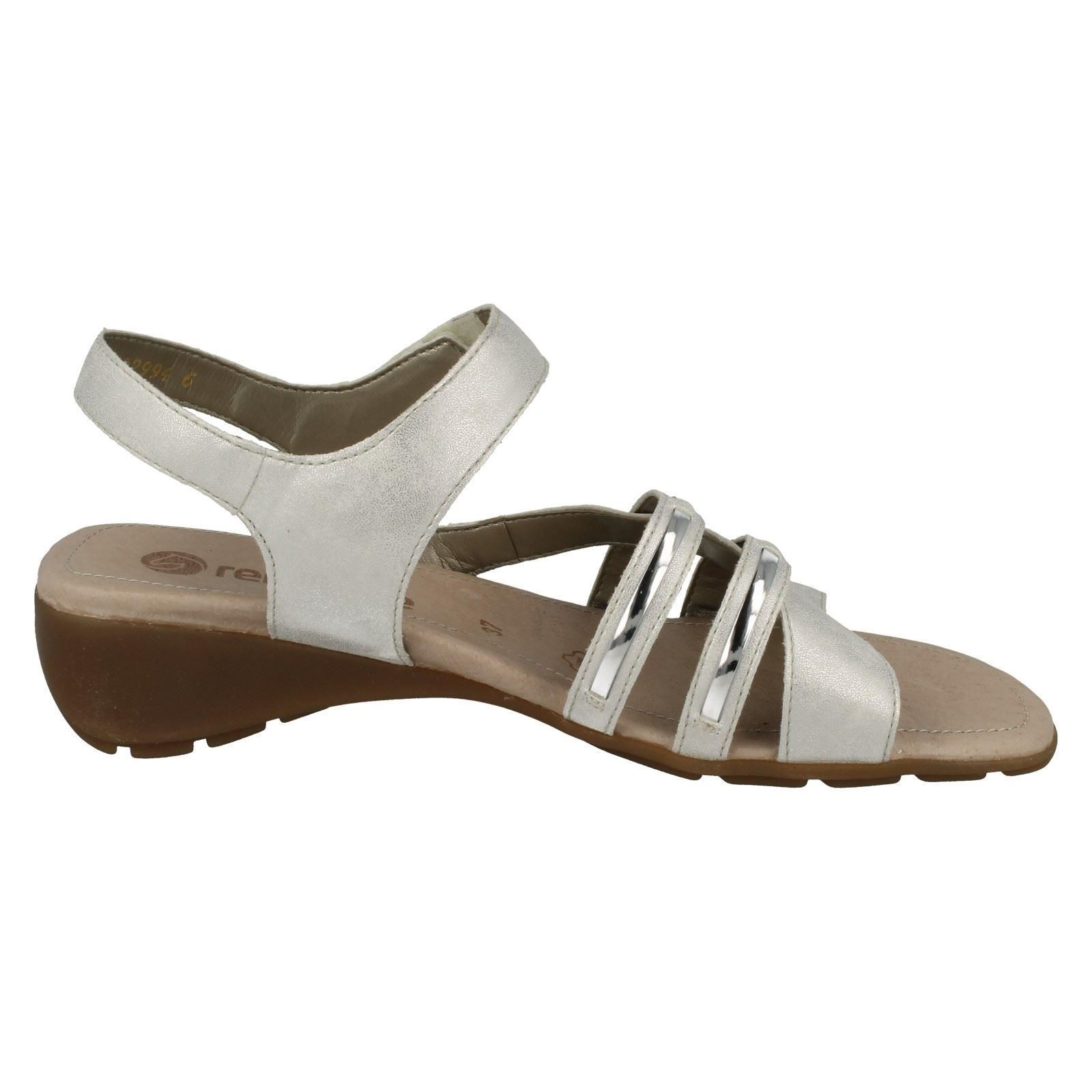 Ladies Sandals White Fashion Casual R5245 Remonte Baq7rwnB