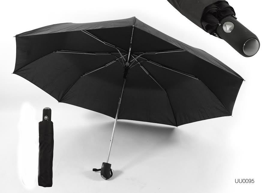 KS Brands UU0104 190T Mens Two Section Automatic Opening Umbrella In Black New