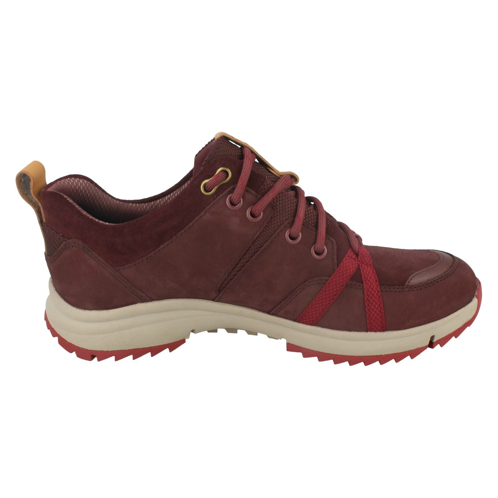 Ladies Clarks Trainer Style Lace Up Fastening Leather Chaussures Chaussures Chaussures - 'Tri Trek Gtx' 48cbc4
