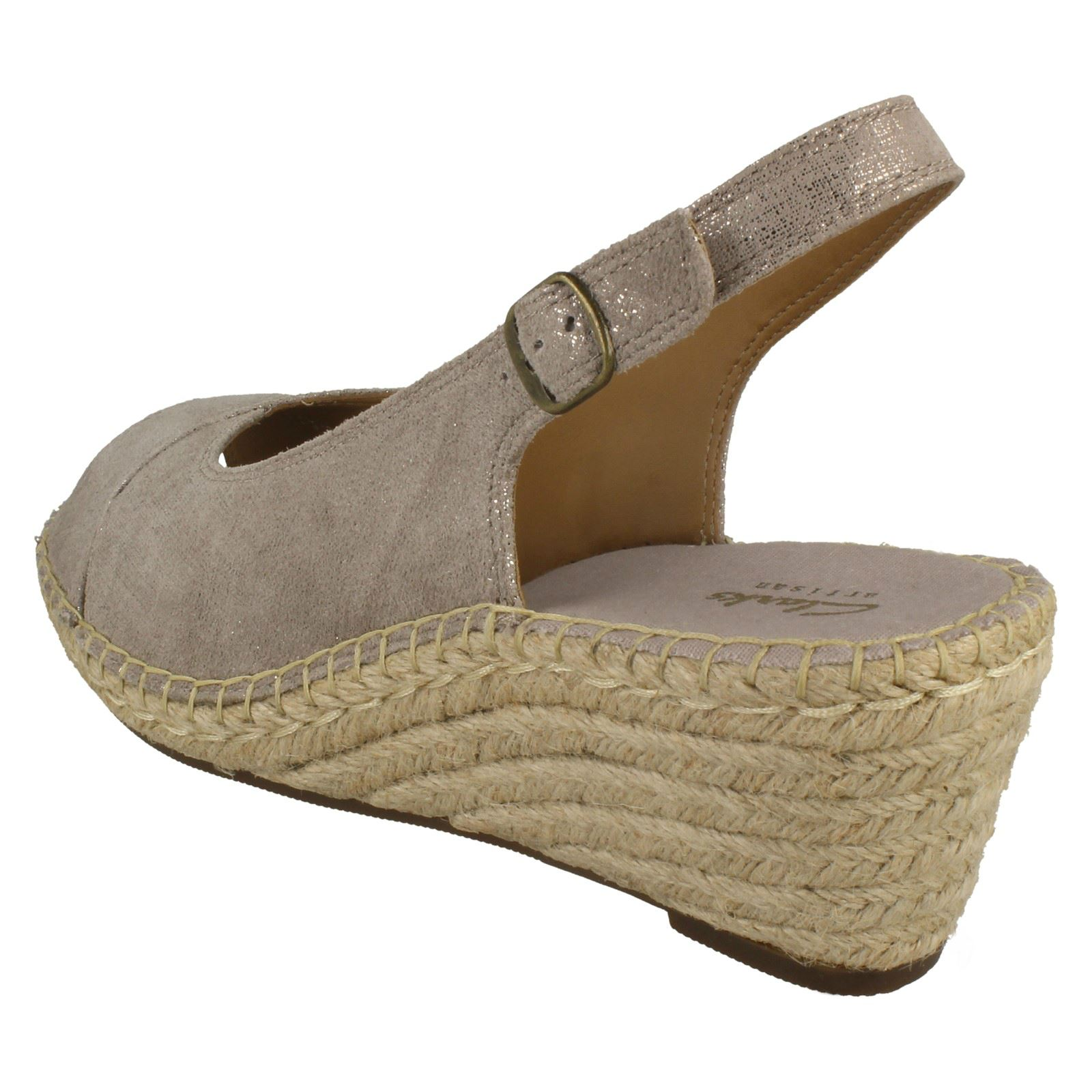 Wedge Sling Back Tan Petrina Sandalias Leigh beige Light Clarks qt56wnT