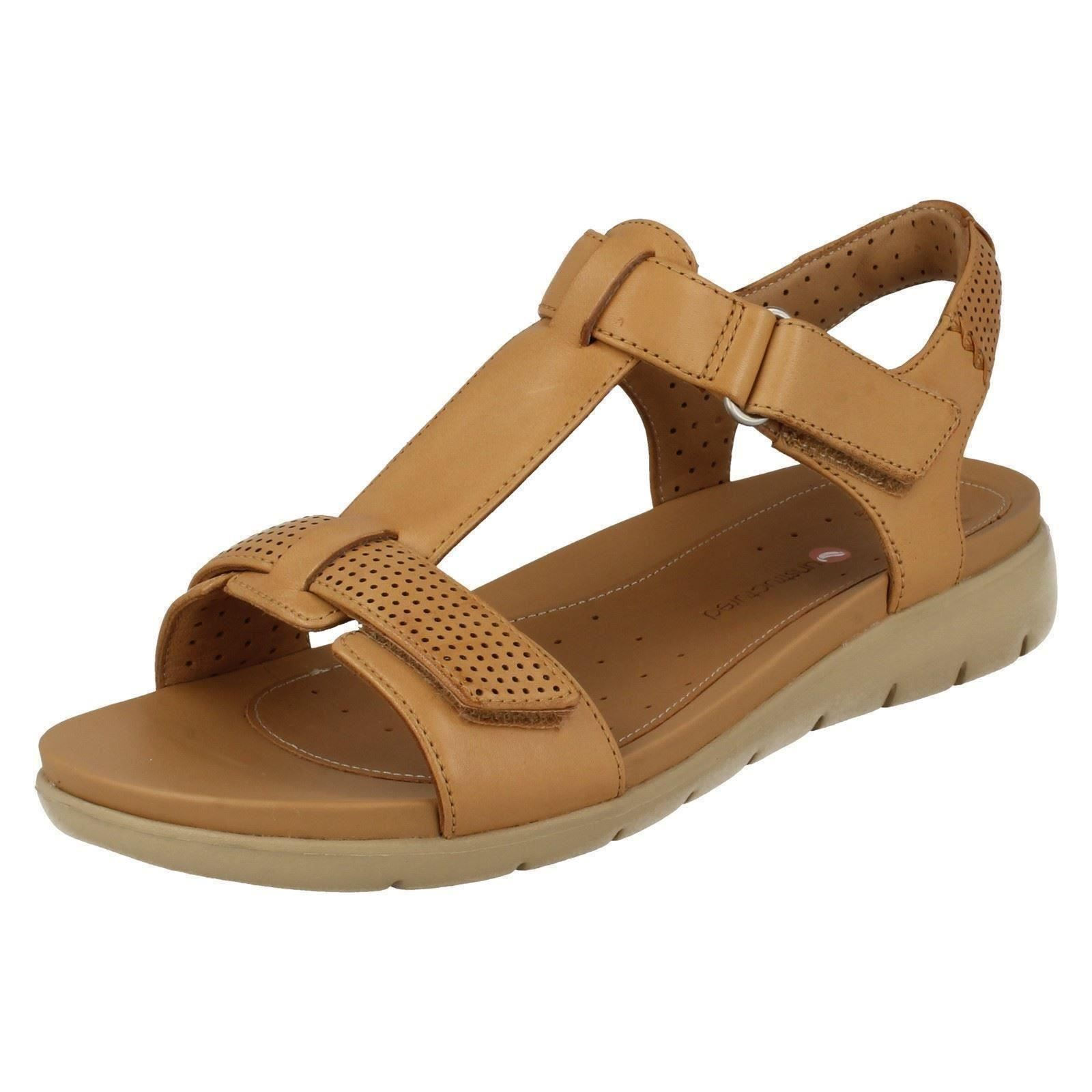 19c983252916 Ladies Clarks Unstructured Casual Sandals Un Haywood Light Tan Leather UK  4.5 D. About this product. Picture 1 of 10  Picture 2 of 10 ...
