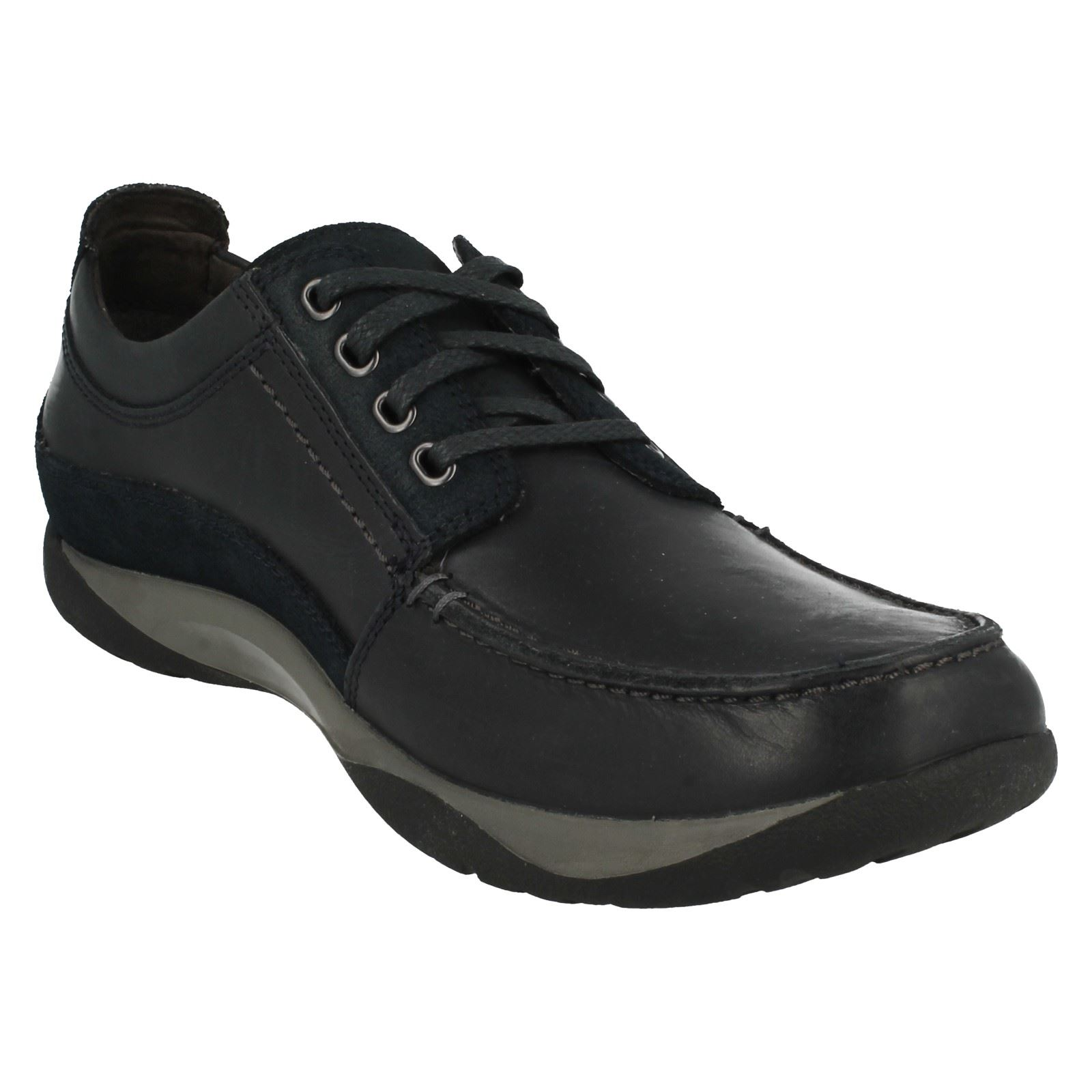 Con Diario Andar Cordones Informal Zapatos Clarks Route Hombre qp8wfIRFF