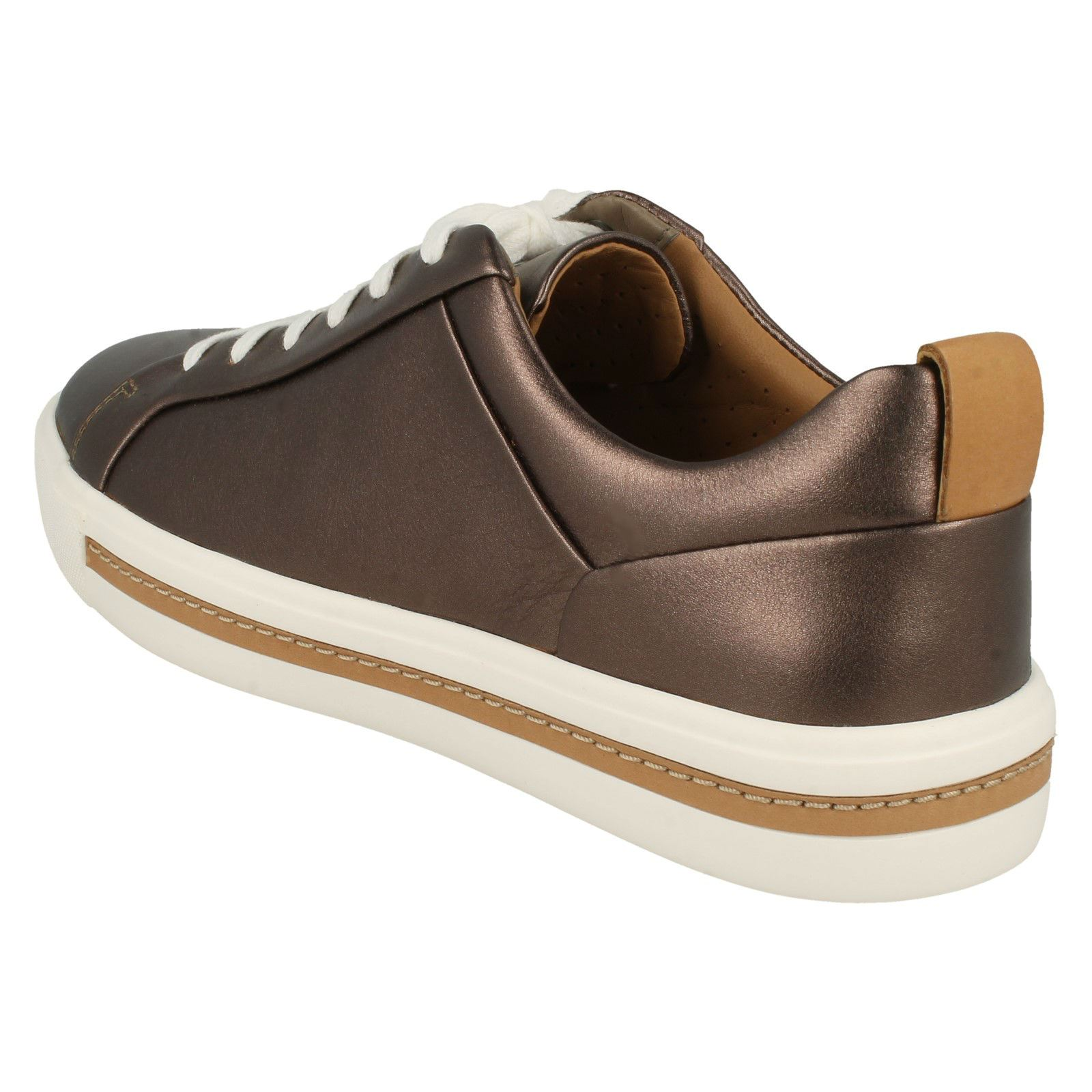 'un Pebble Clarks Lace' Maui Trainers Ladies dorado Stylish Lace Up nc61Axx4Sq