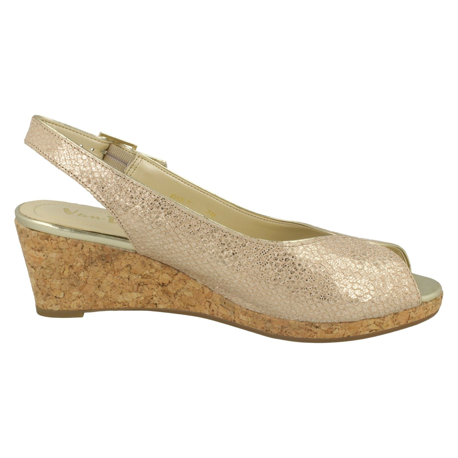 Ladies-Van-Dal-Cork-Wedge-Sandals-Gable thumbnail 6