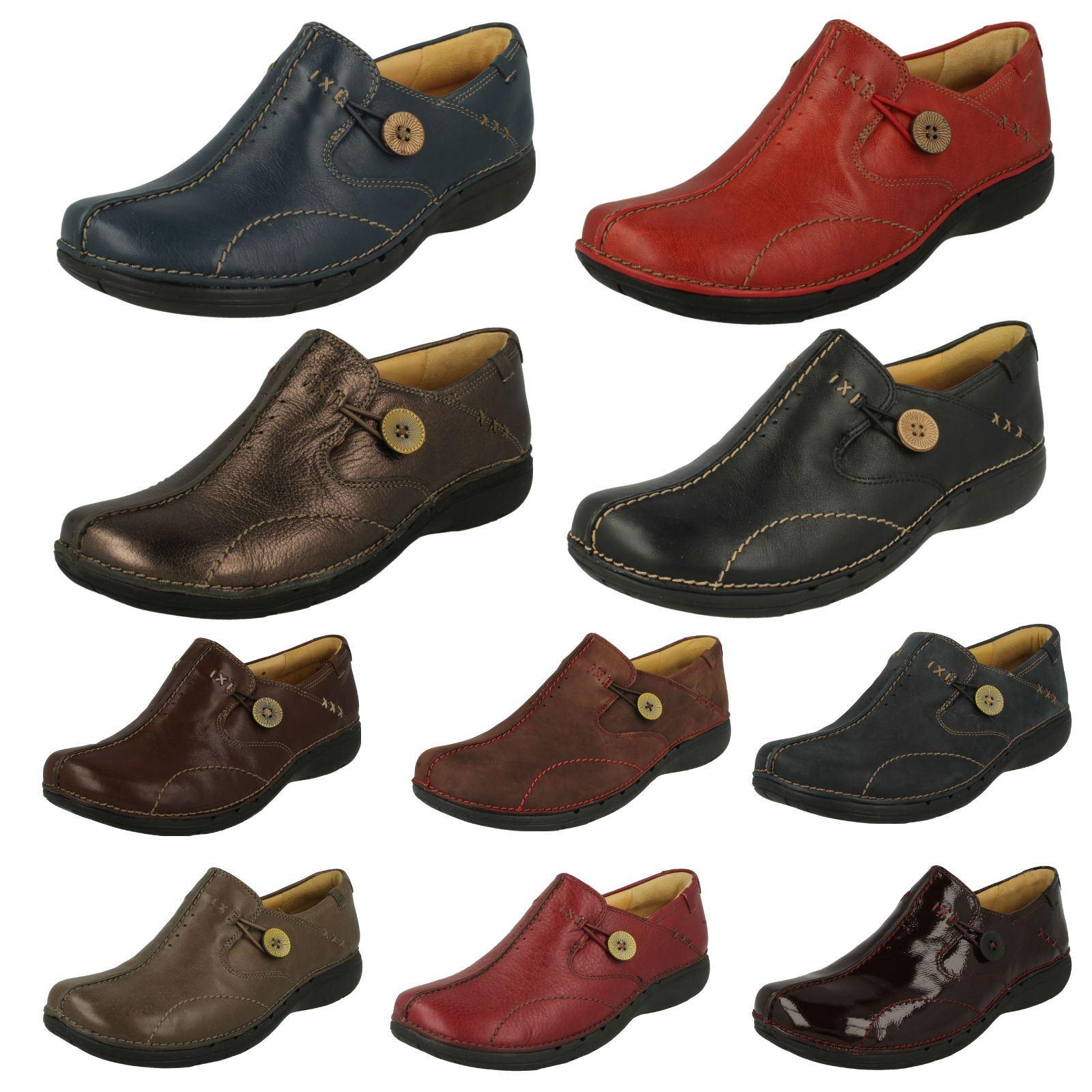 Details about Womens Clarks Un Structured Slip On Shoes Un Loop