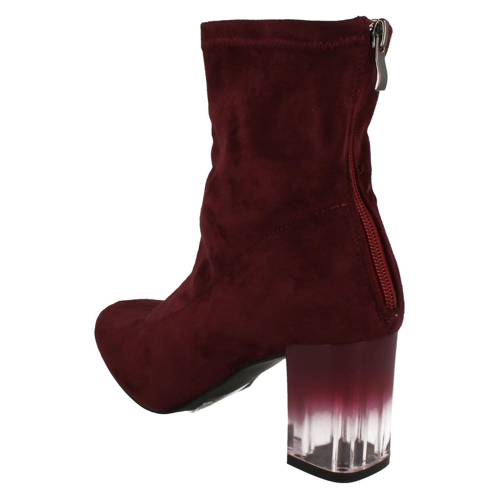 Ladies-Spot-On-Smart-Heeled-Ankle-Boots
