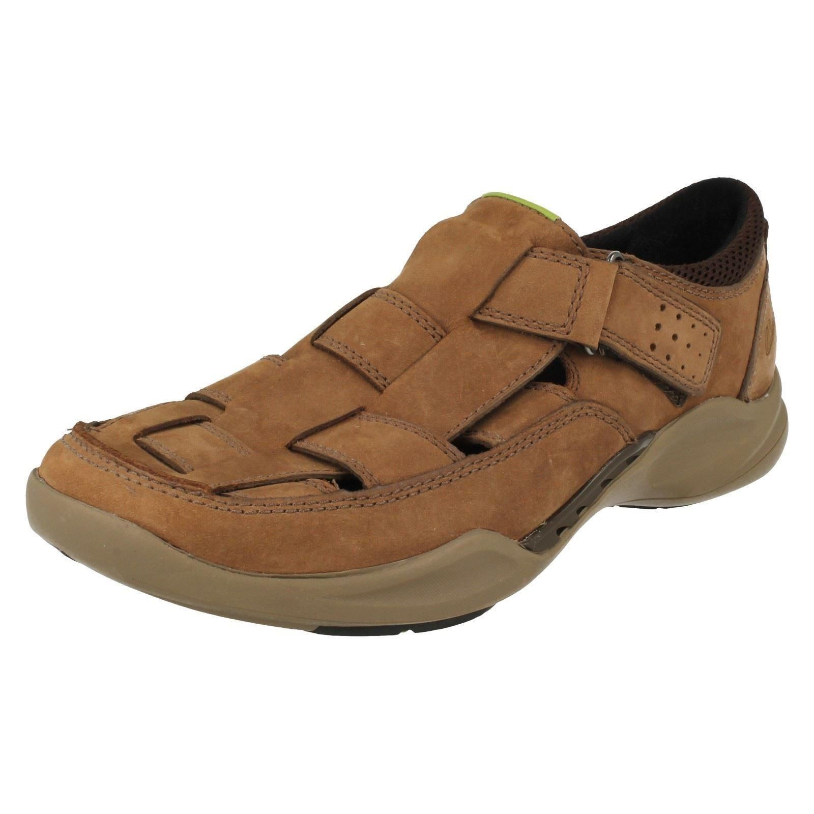 Breeze Ebony con Clarks marrone chiusa Mens Walk Sandali punta Wave g6q7xAFa