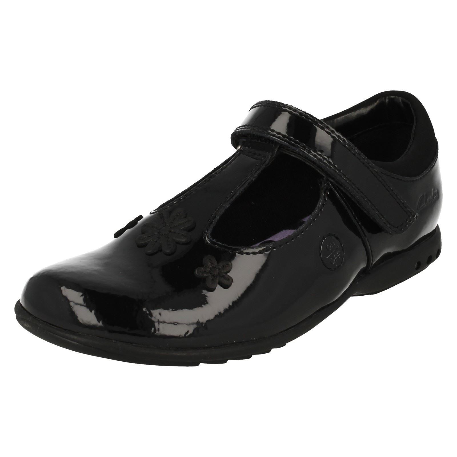 5d54372f27b Zapatos Clarks T-Bar inteligente escuela de infantil las niñas con luces  'Trixi Beau'