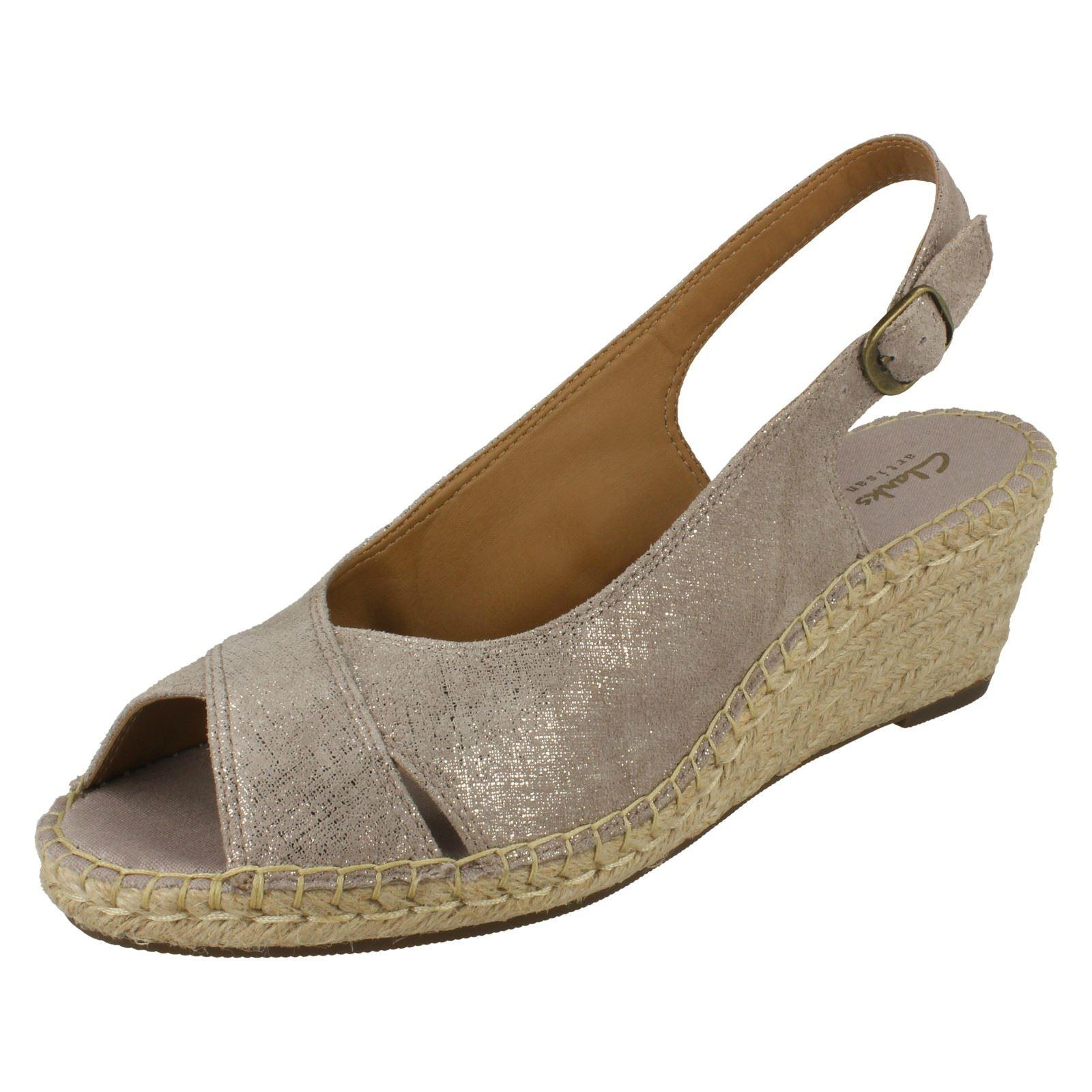 8af62d3b146 Clarks Ladies Sling Back Wedge Sandals Petrina Leigh
