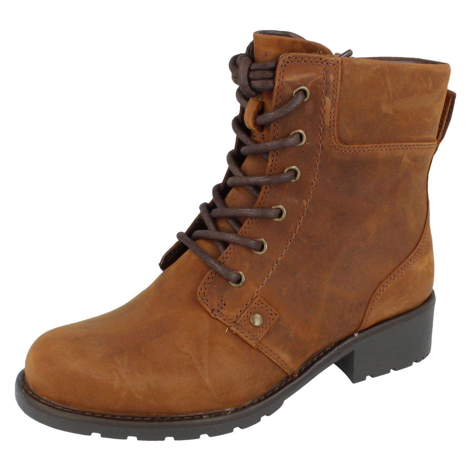 Ladies-Clarks-Ankle-Boots-039-Orinoco-Spice-039