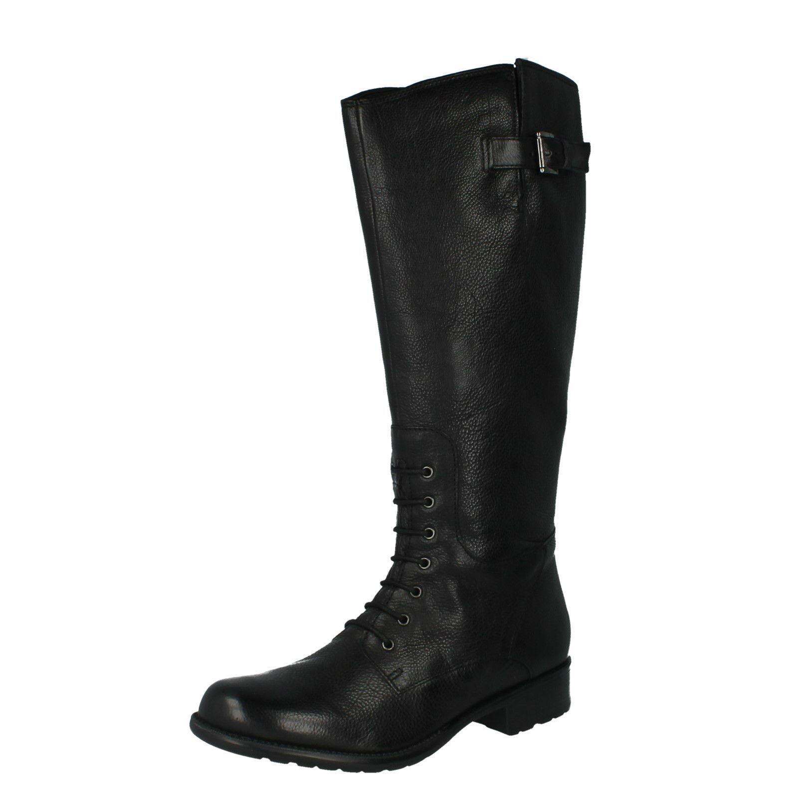 Mullin Ladies Length Clove Knee Up Black Clarks Boots Zip xrqfwIY7r