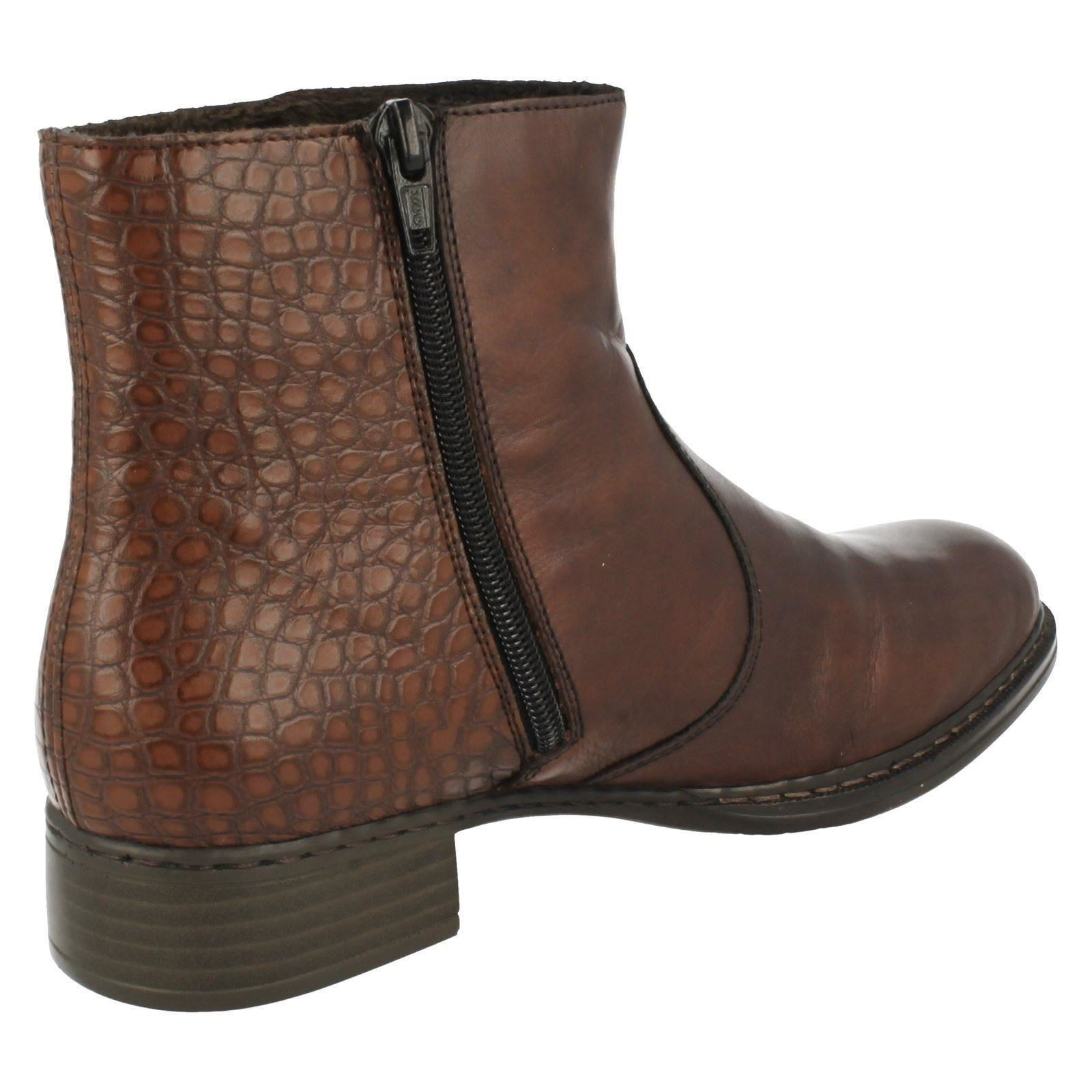 Gentlemen/Ladies Ladies Rieker Ankle Boots '73490' Packaging diversity Stylish and Elegant charming Elegant and and solemn 0d0561