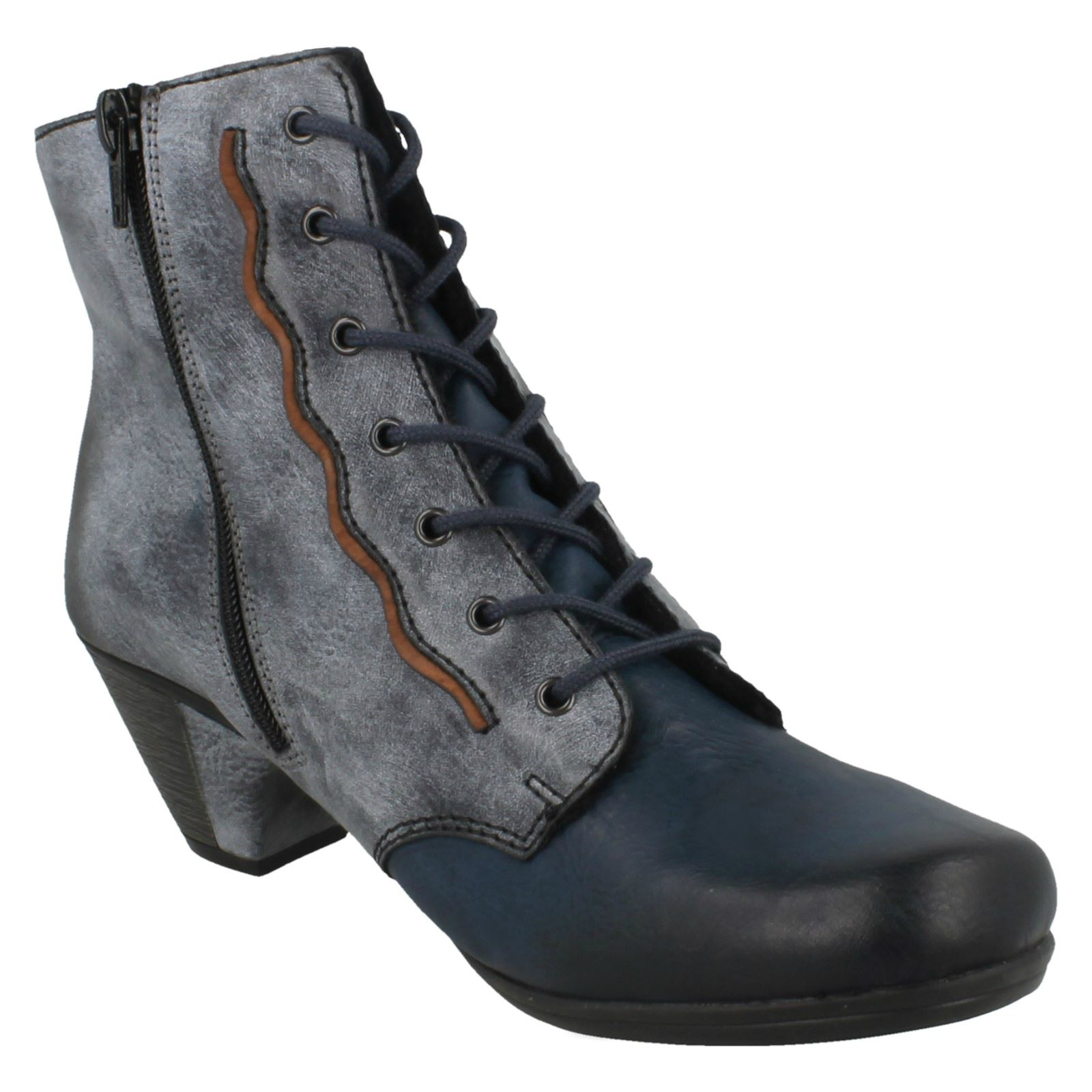 Zapatos especiales con descuento Ladies Rieker Casual Ankle Boots Y2714