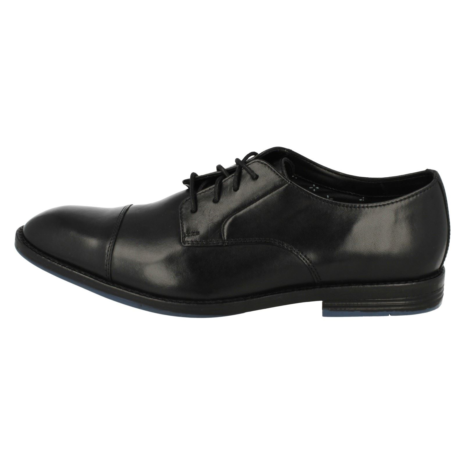 Smart Clarks Black Shoes Prangley Formal Up hombre Clarks para Lace Cap XqfRpX