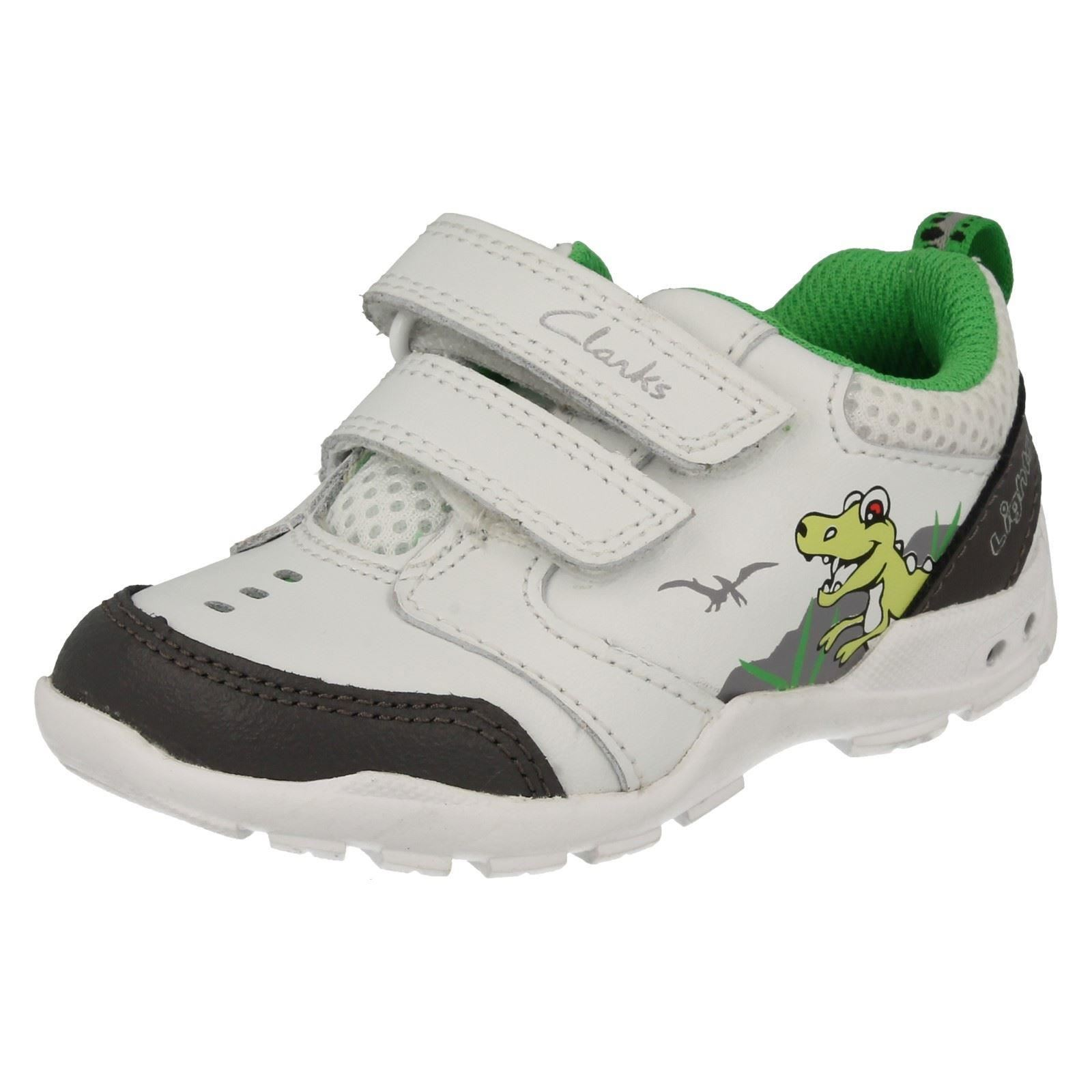 f58579f510c Details about Boys Clarks Light Up Casual Trainers Brite Dino