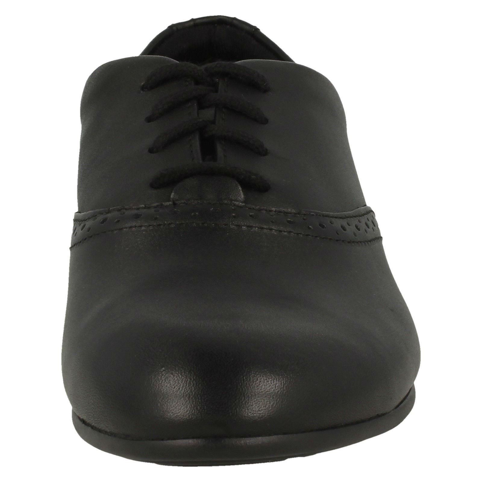 Up School Shoes Brogue Lace 'jules Clarks Niñas Negro Walk' qawHZAFnz