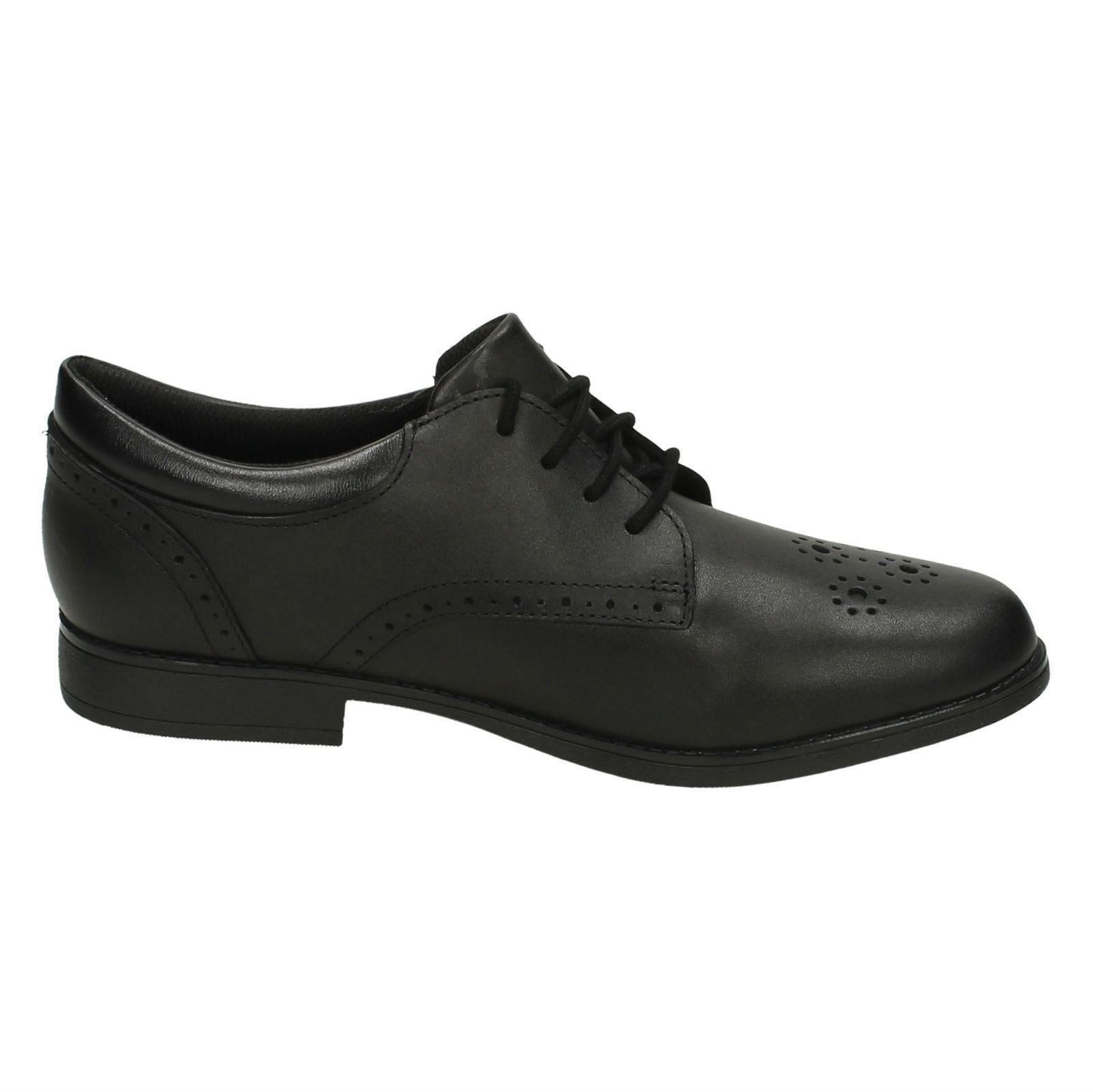 Fudge sami Por pirata Shoes Brogue Clarks Black Niñas Gtx School PHq74xx